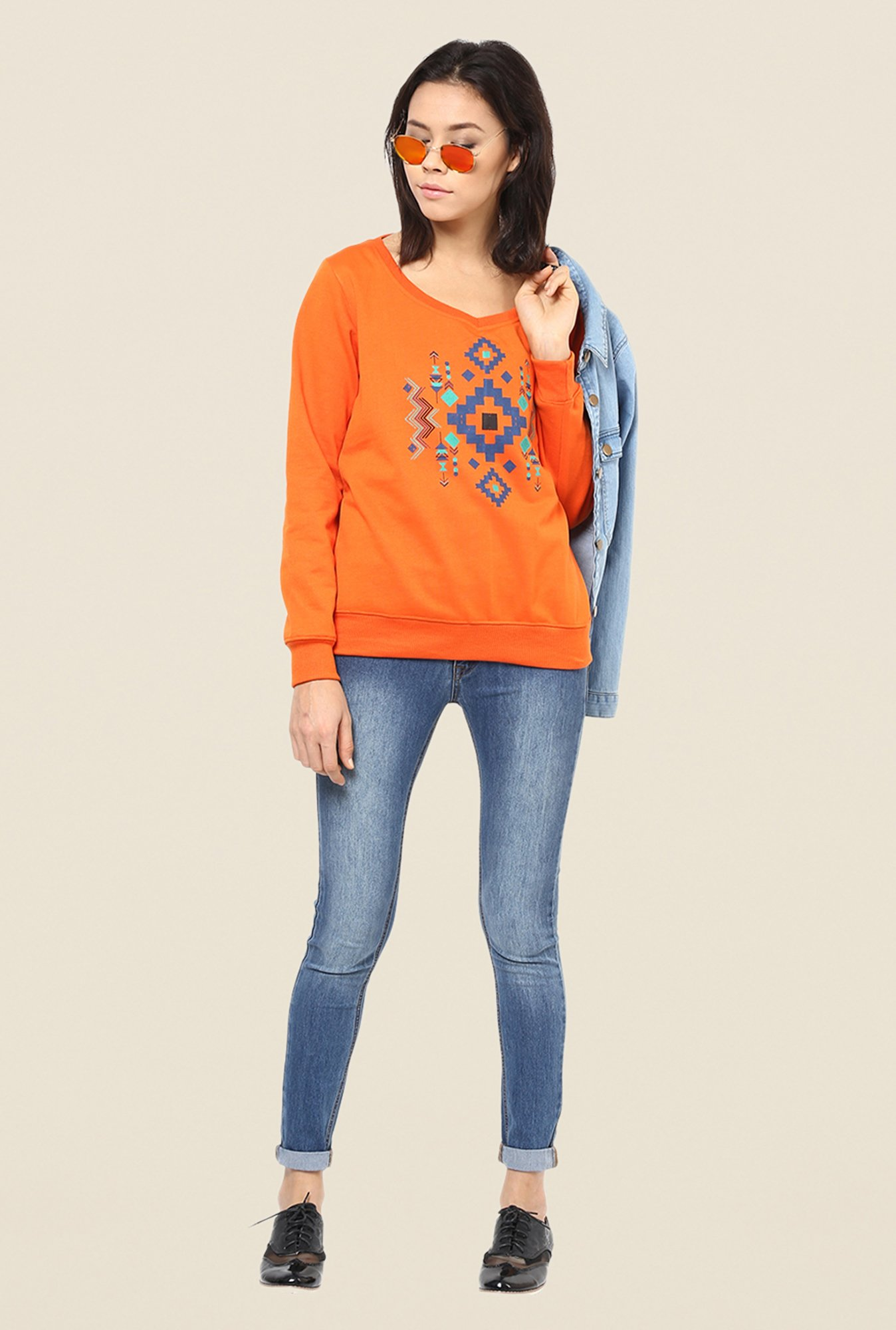 Yepme Carol Orange Sweatshirt