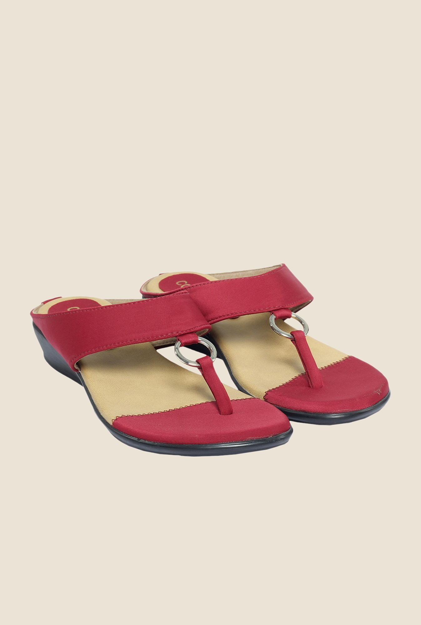 Cocoon Red Thong Sandals