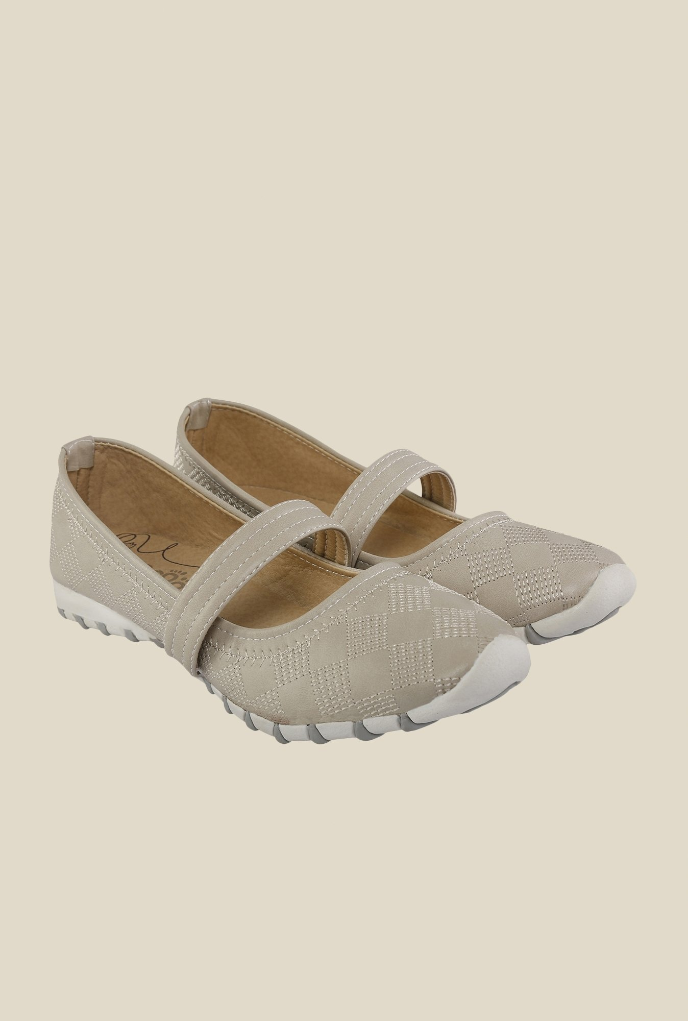 Cocoon Grey Mary Jane Shoes