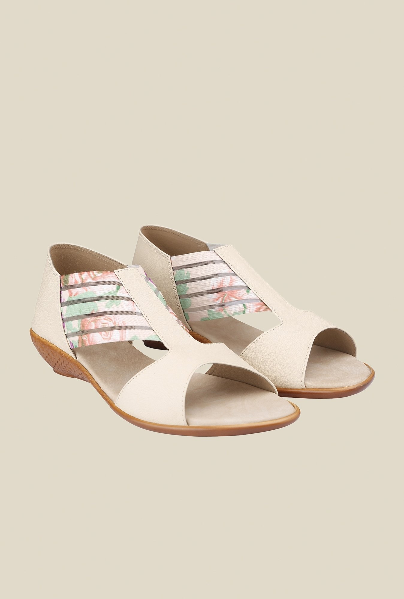 Cocoon Beige Wedge Heeled Sandals