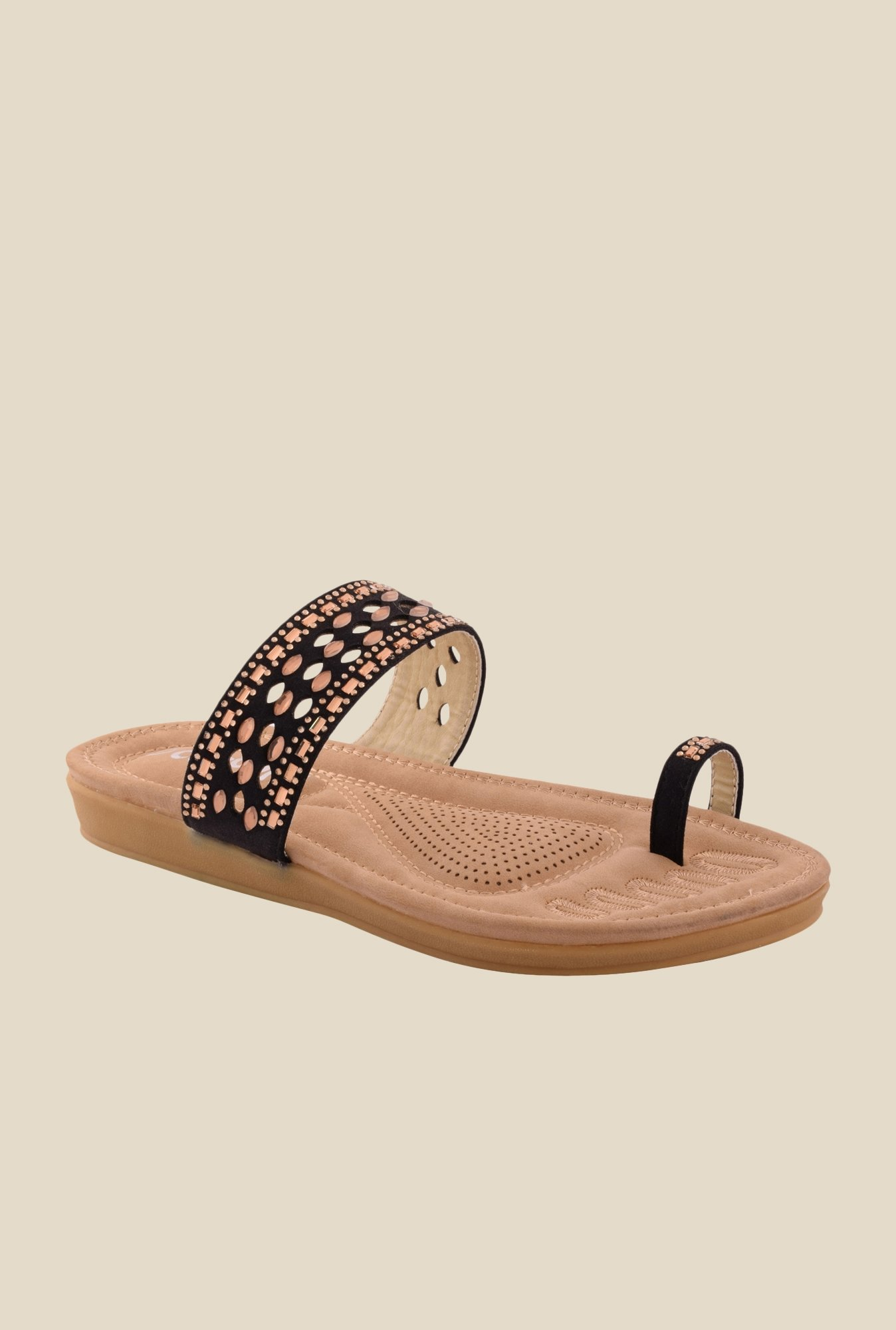 Cocoon Black Toe Ring Sandals