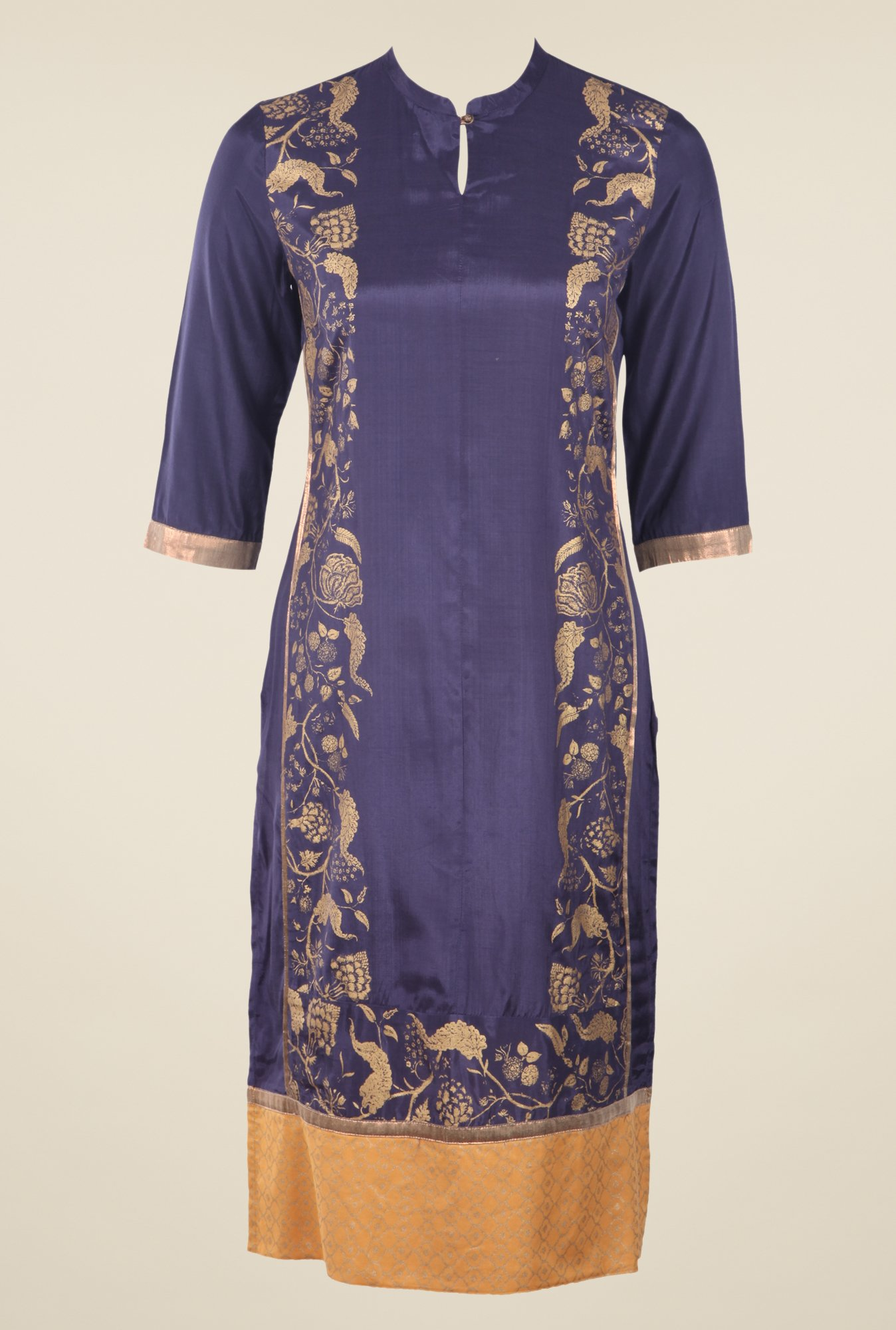 W Purple Printed Kurta