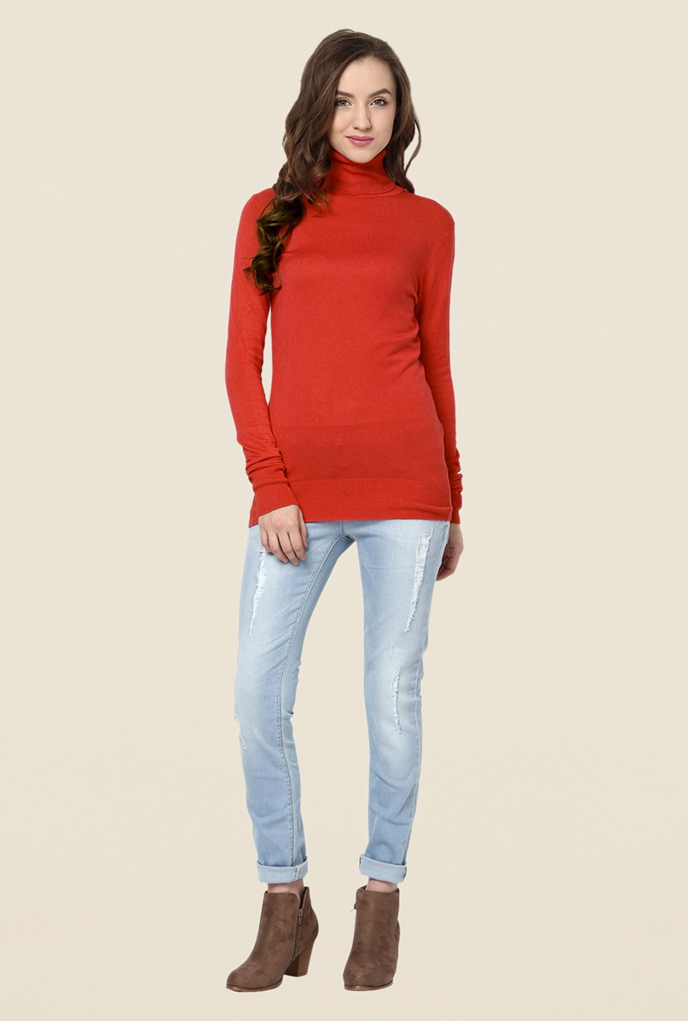 Yepme Red Lexi Sweater