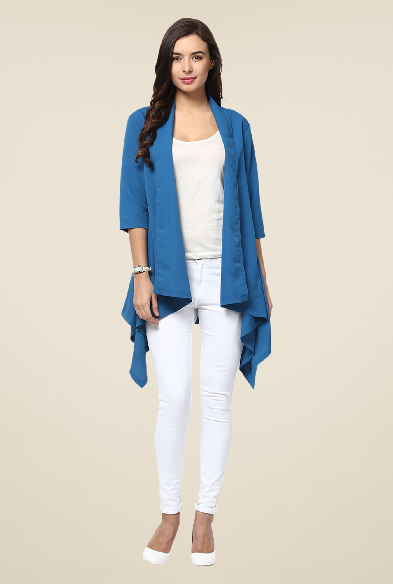 Yepme Blue Avril Draped Shrug
