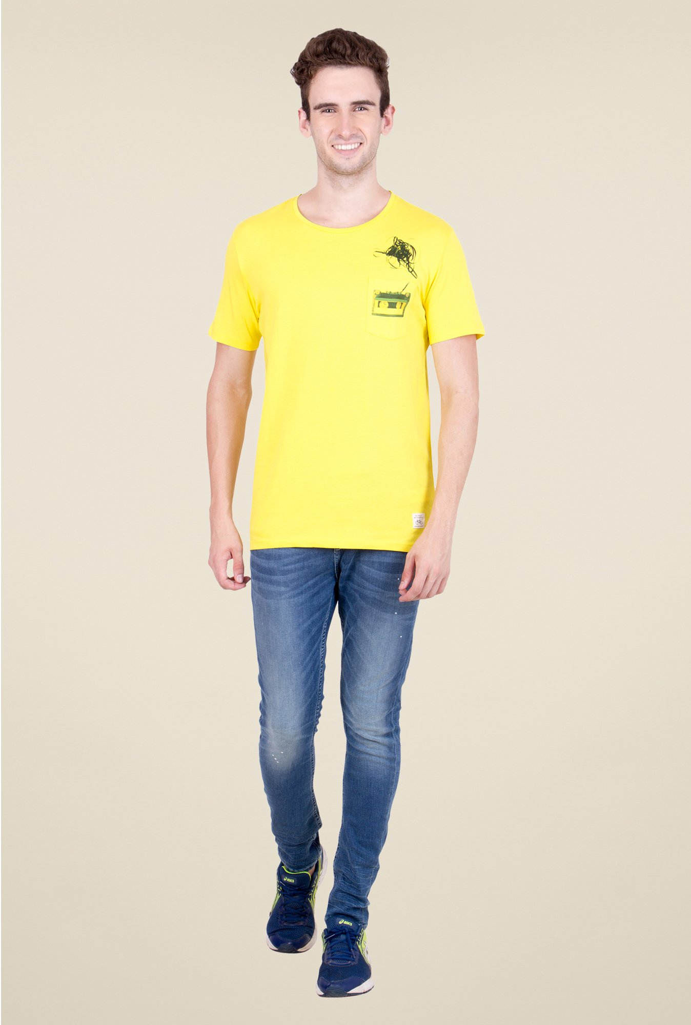 United Colors of Benetton Yellow T Shirt