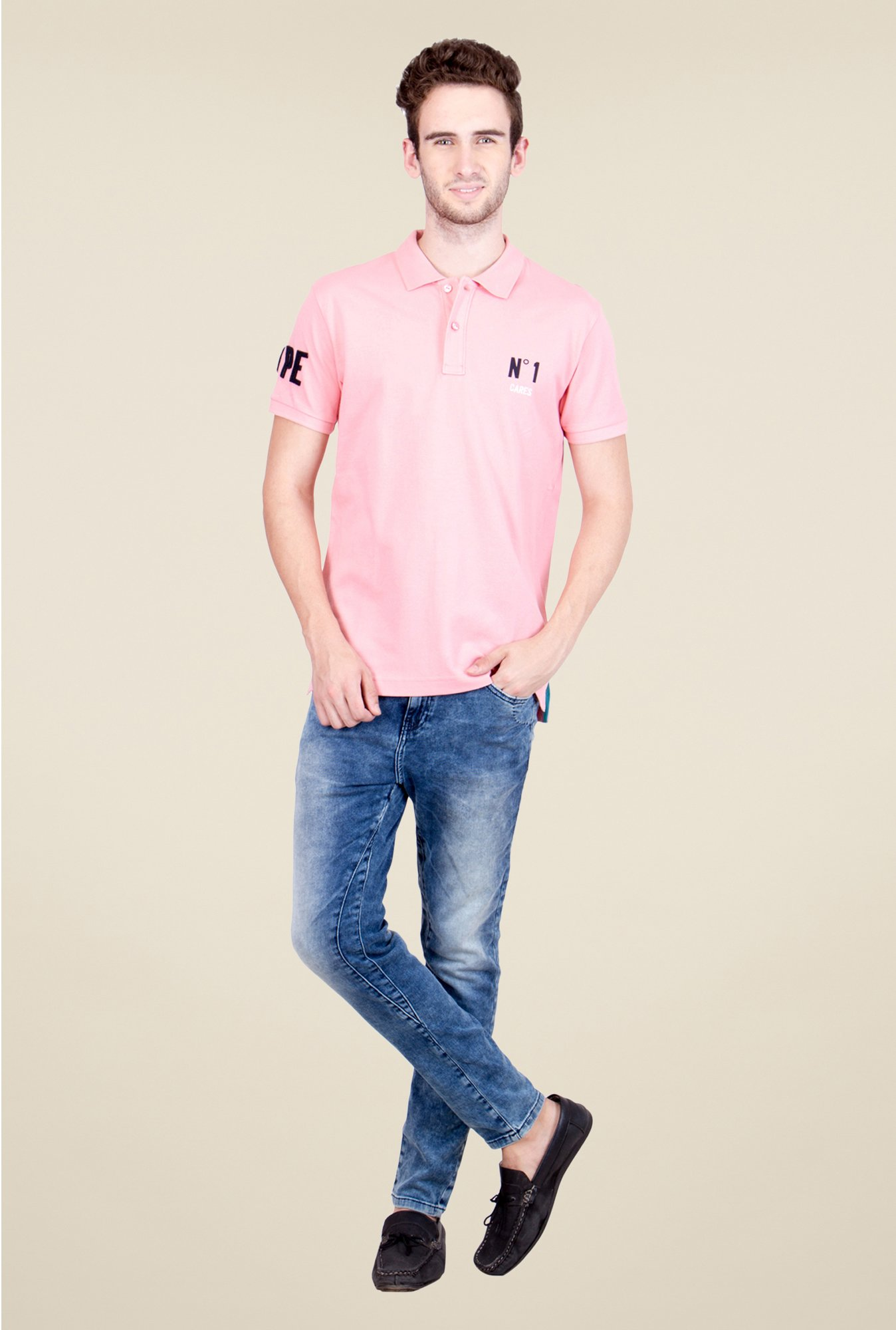 United Colors of Benetton Pink Polo T Shirt
