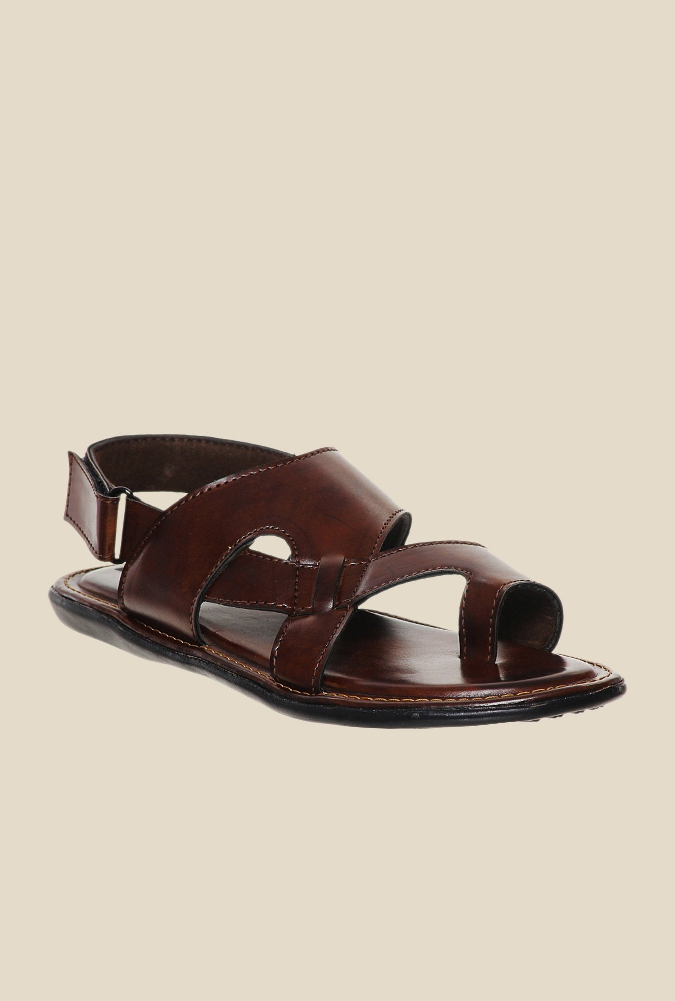 Bruno Manetti Brown Back Strap Sandals