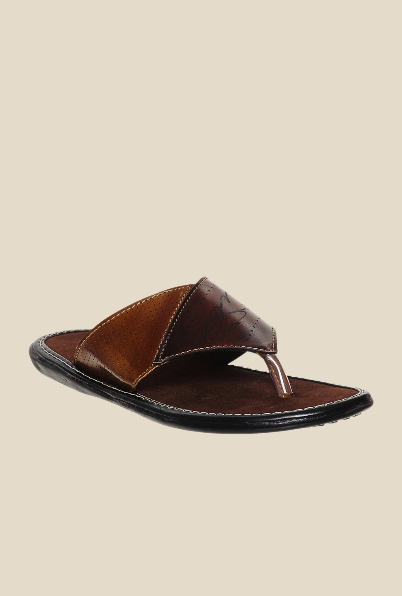 Bruno Manetti Brown Thong Sandals