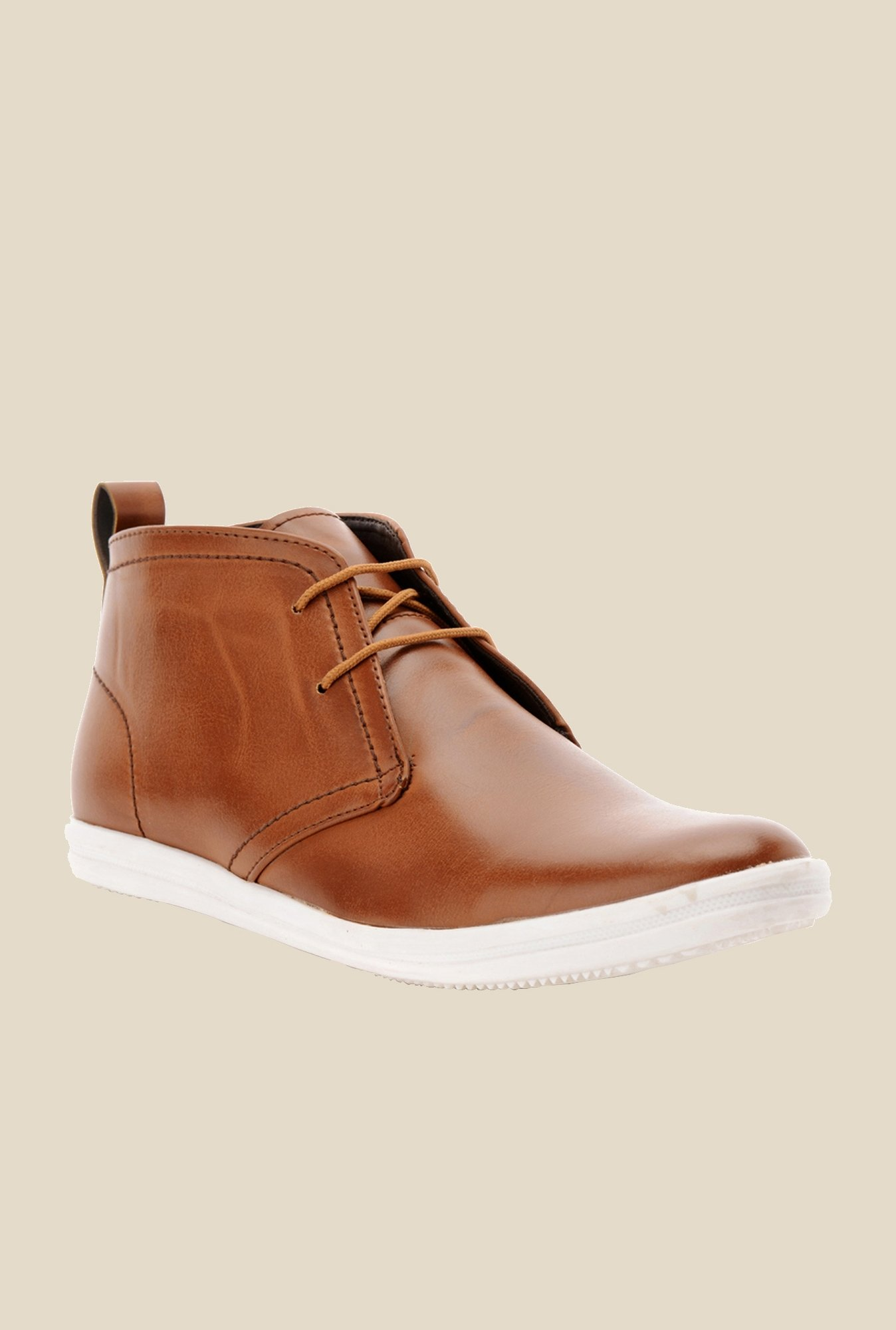 Bruno Manetti Dark Tan Chukka Shoes