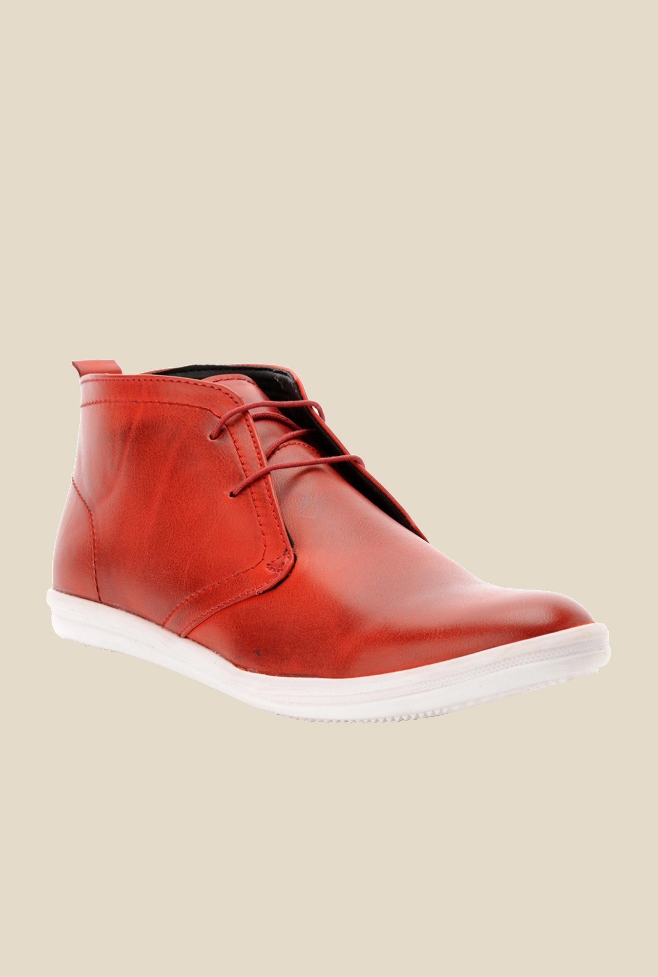 Bruno Manetti Red Chukka Shoes