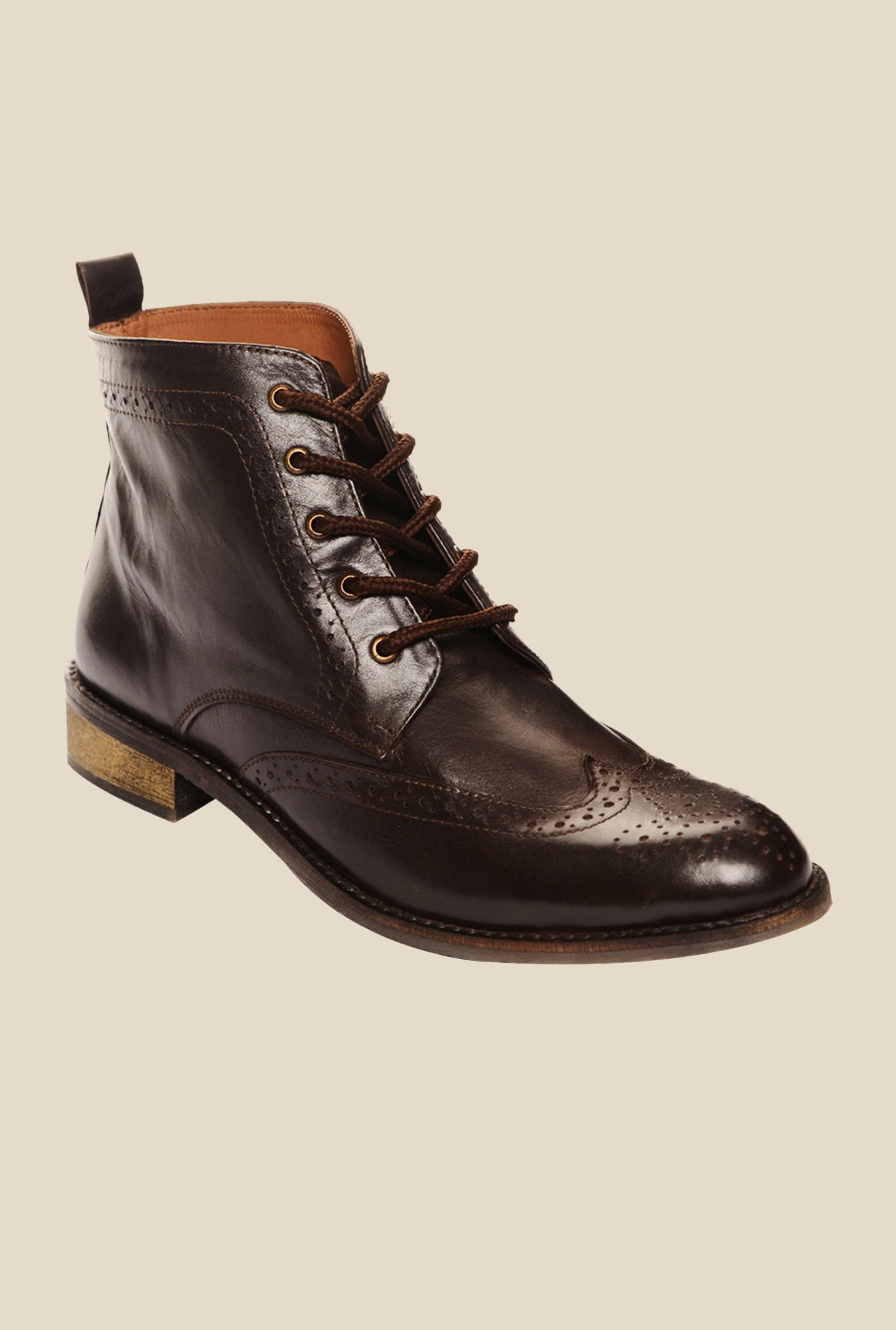 Bruno Manetti Brown Brogue Boots