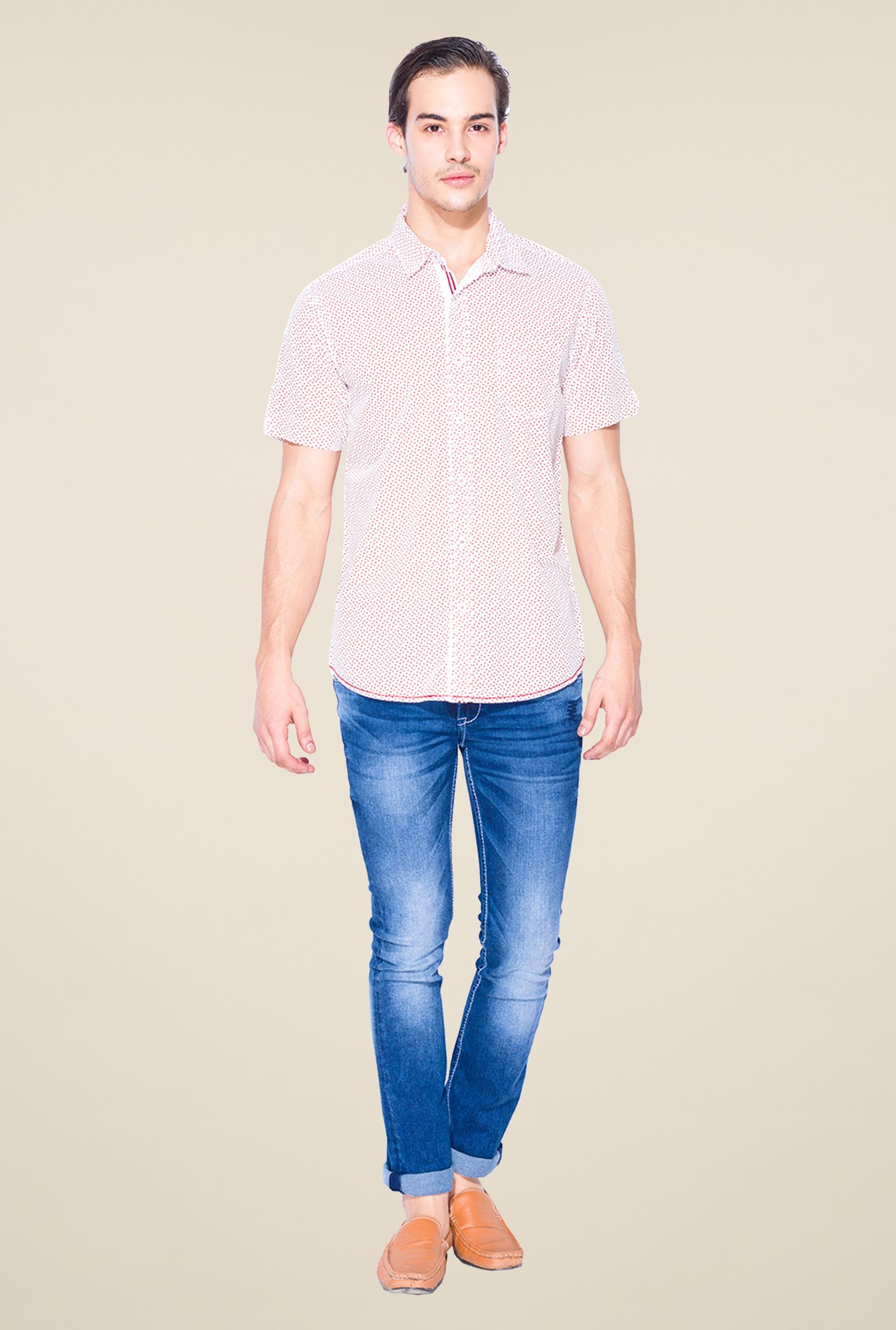 Mufti Red Printed Shirt
