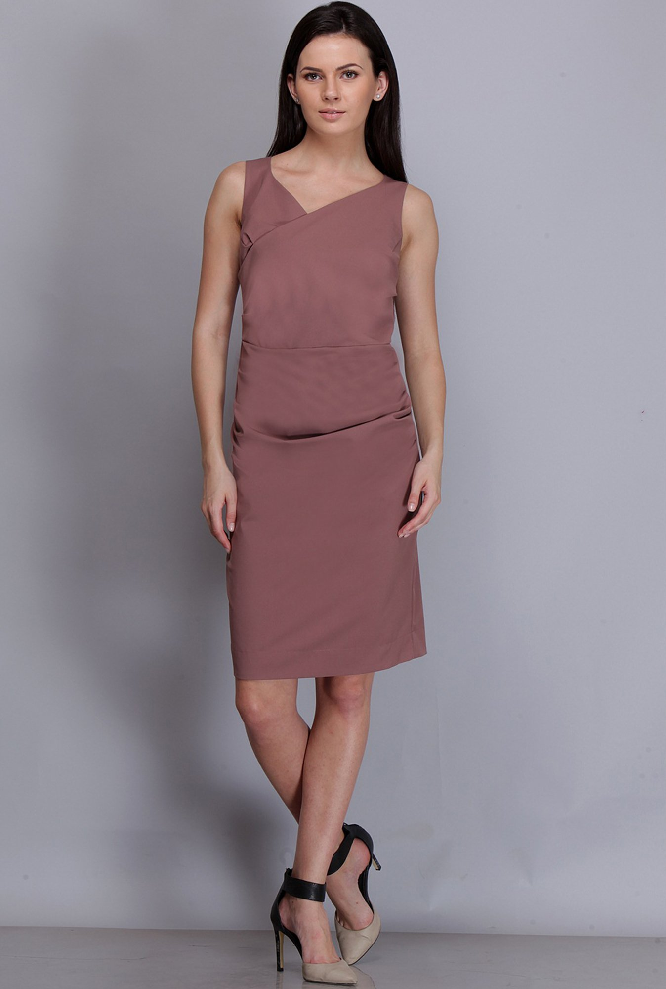 Kaaryah Pink Solid Dress