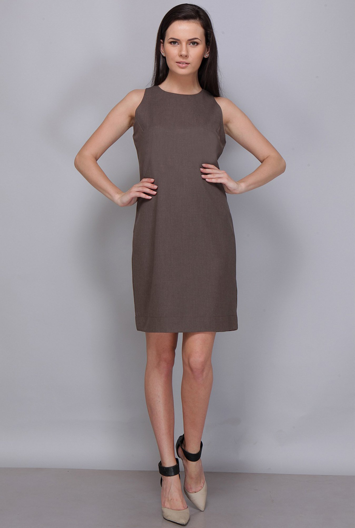 Kaaryah Coffee Solid Dress