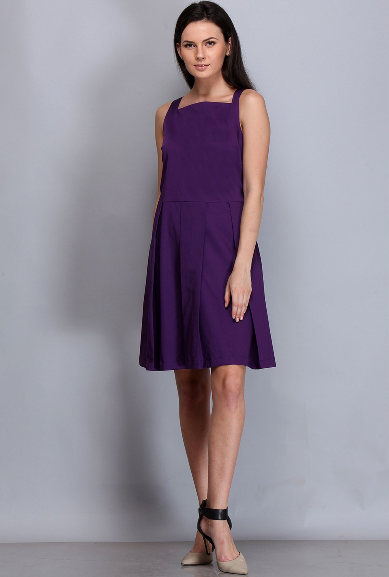 Kaaryah Purple Solid Dress