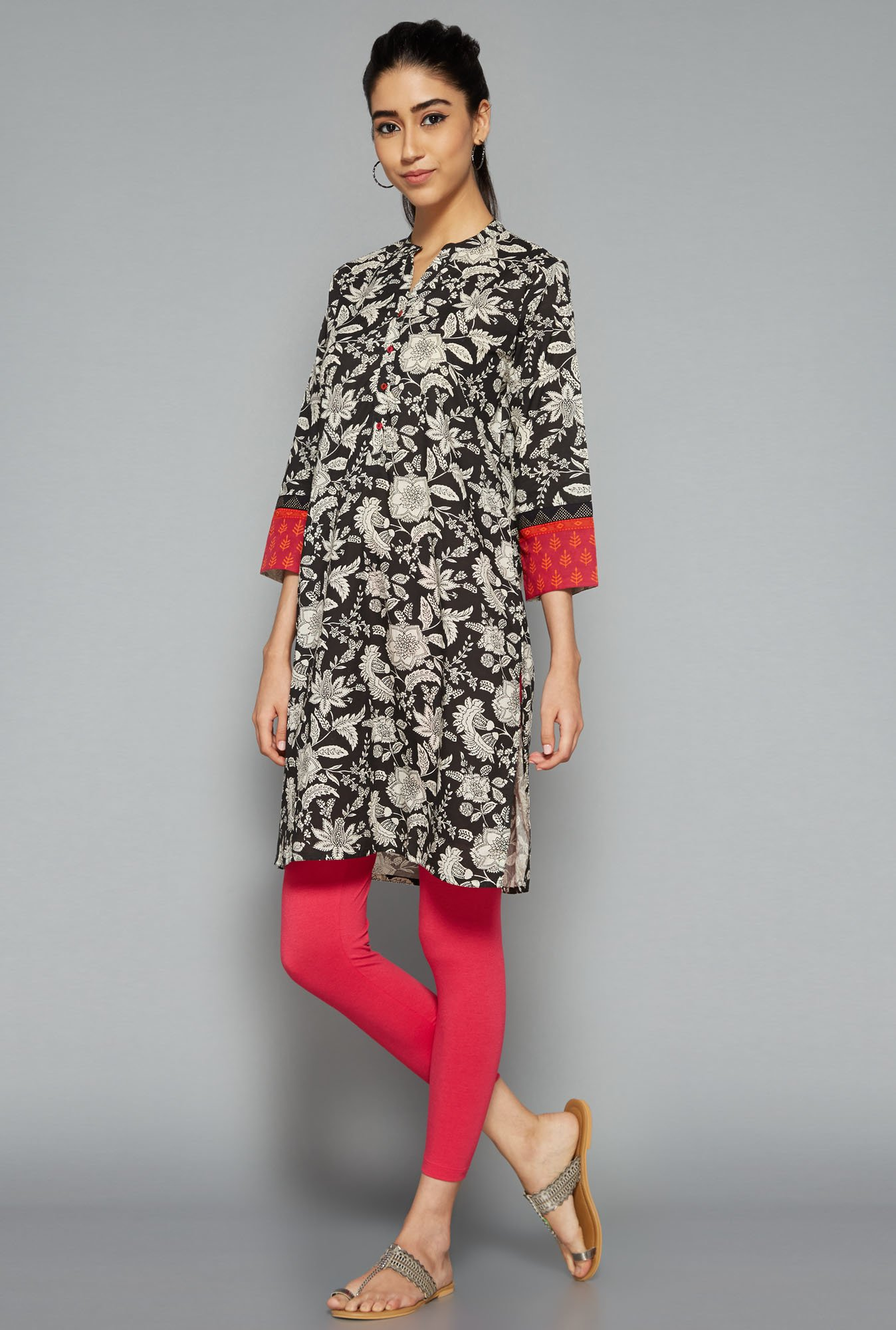 Utsa by Westside Black Printed Kurti