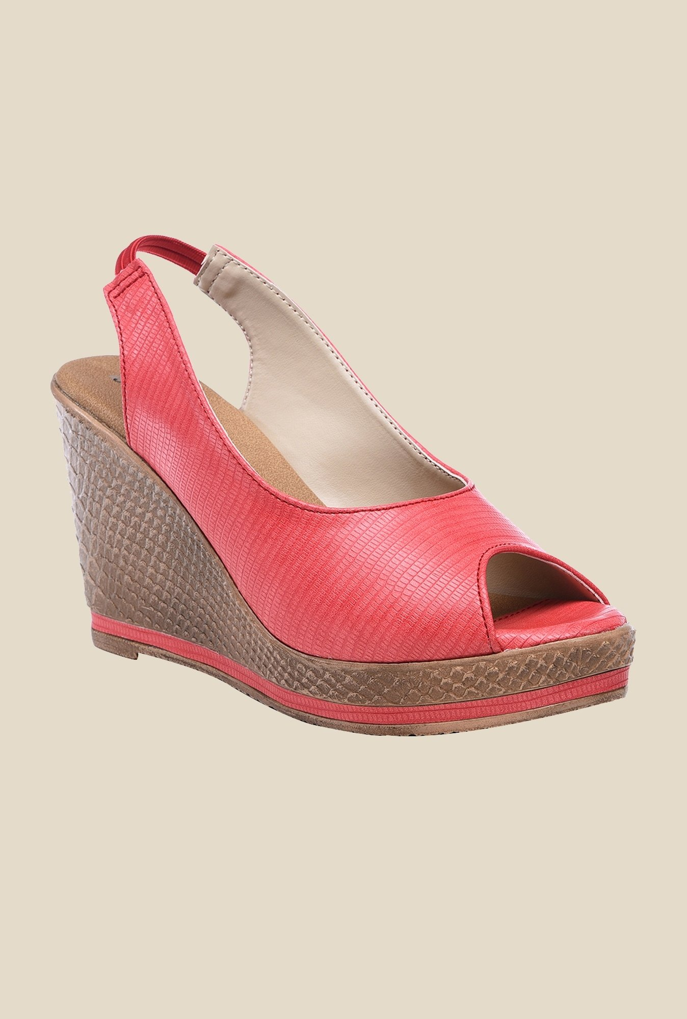 Bruno Manetti Red Sling Back Wedges