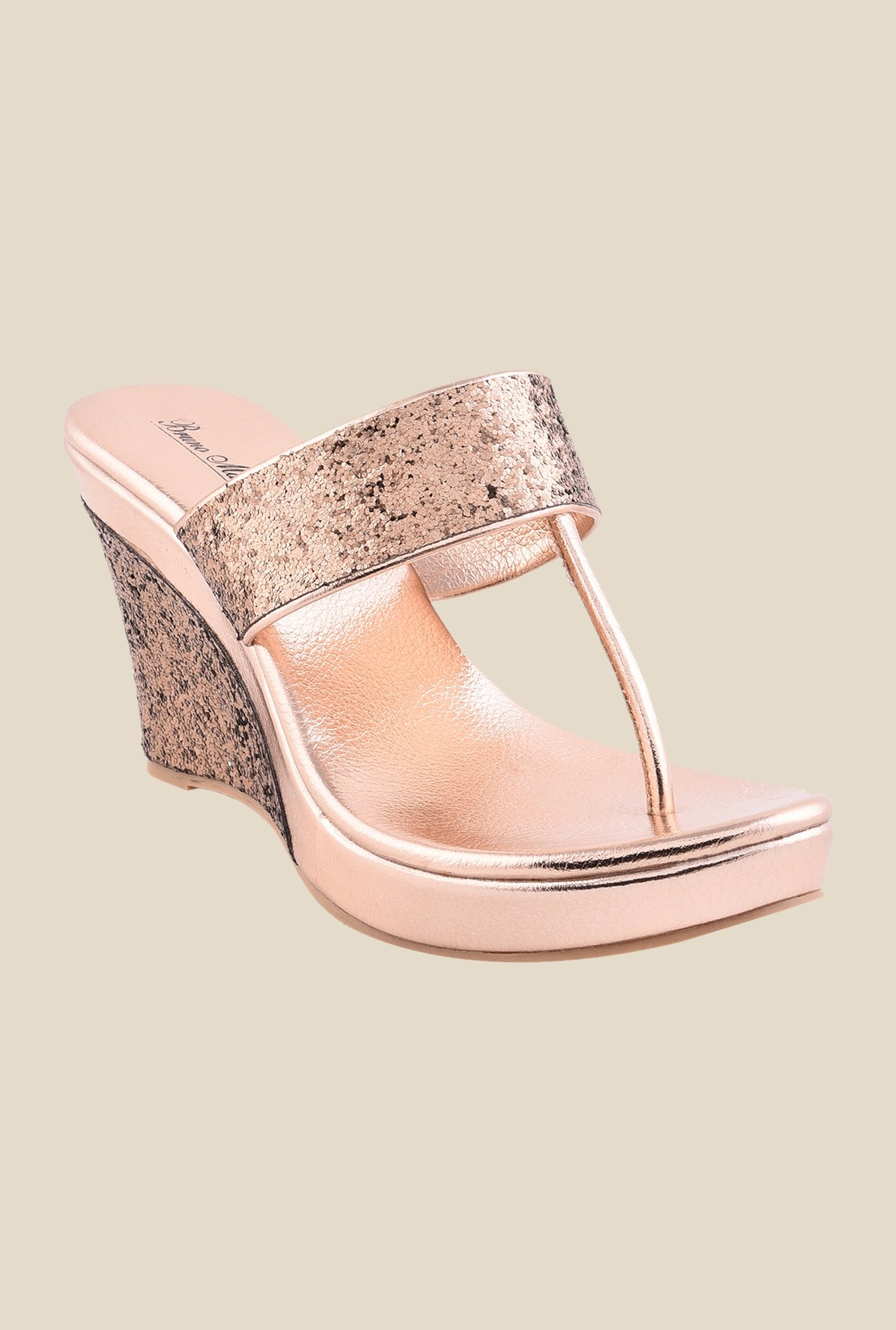 Bruno Manetti Copper T-Strap Wedges