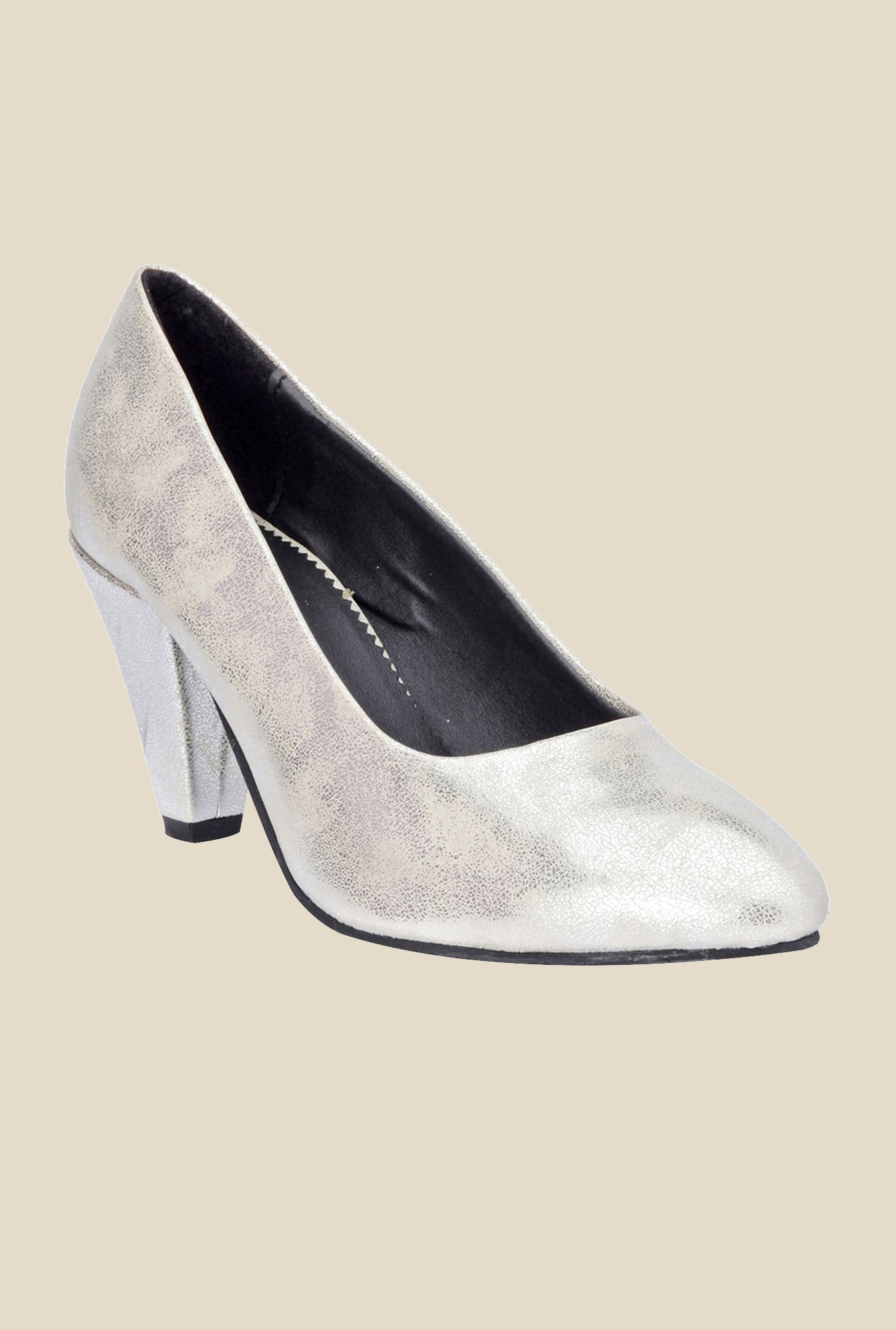 Bruno Manetti Silver Stiletto Heeled Pumps