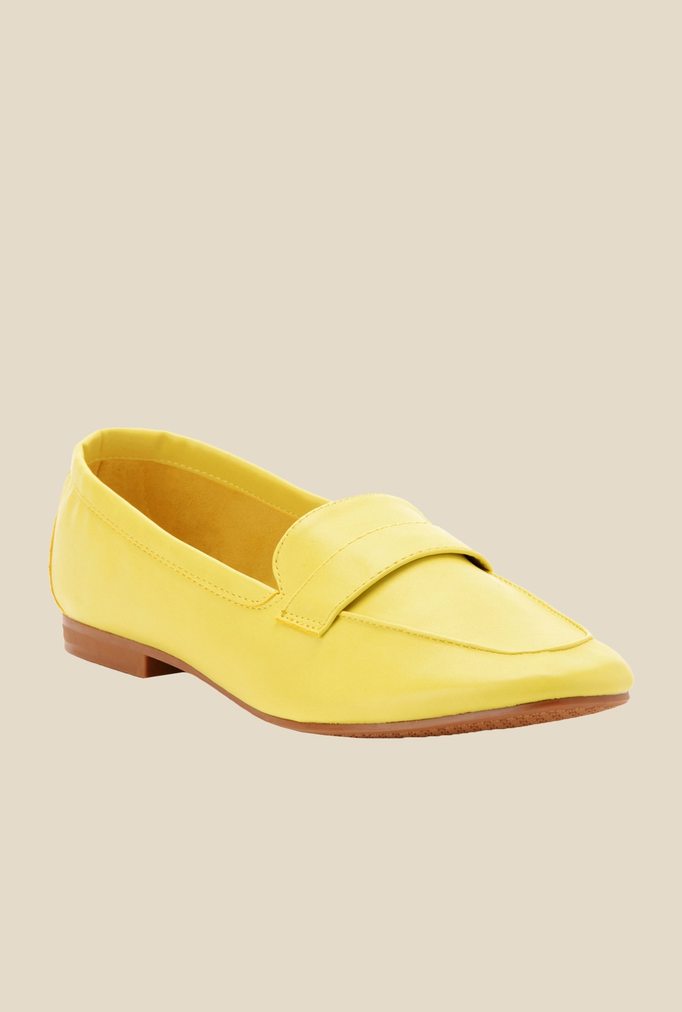 Bruno Manetti Yellow Casual Loafers
