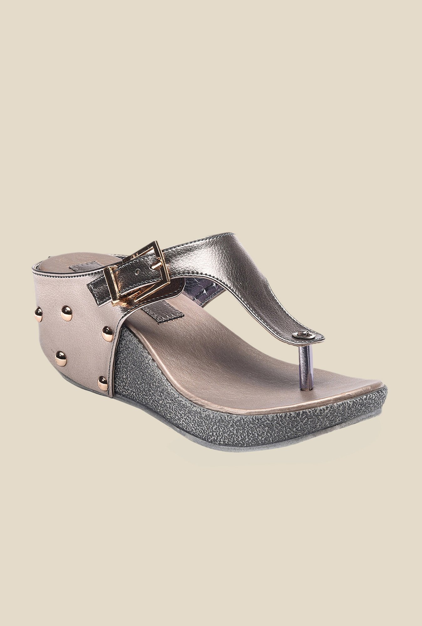 Bruno Manetti Grey Thong Sandals
