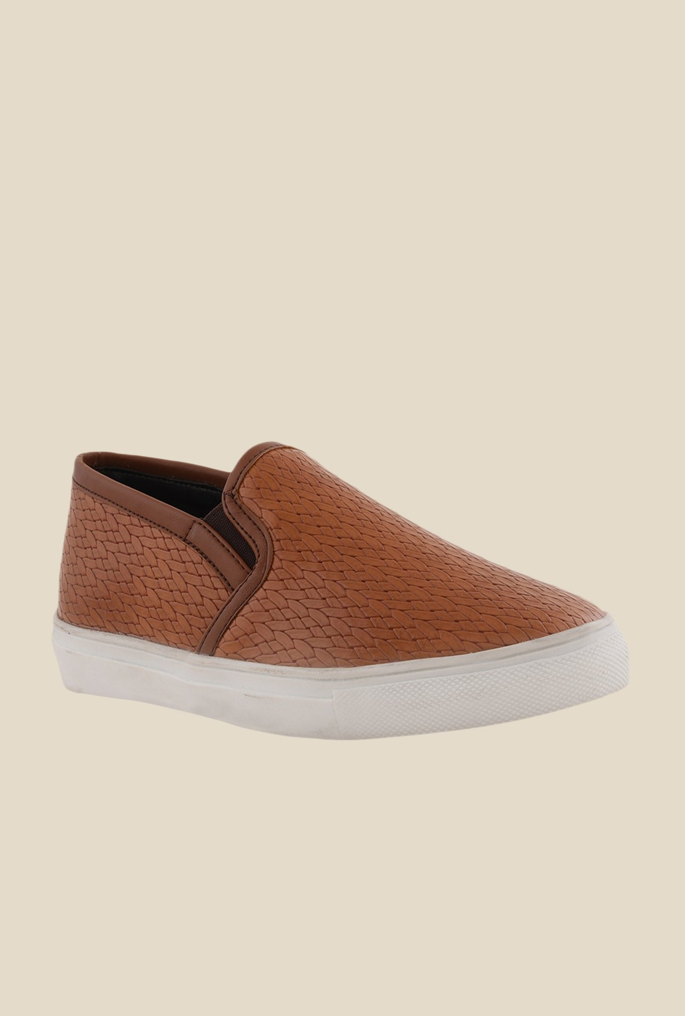 Bruno Manetti Tan & White Plimsolls