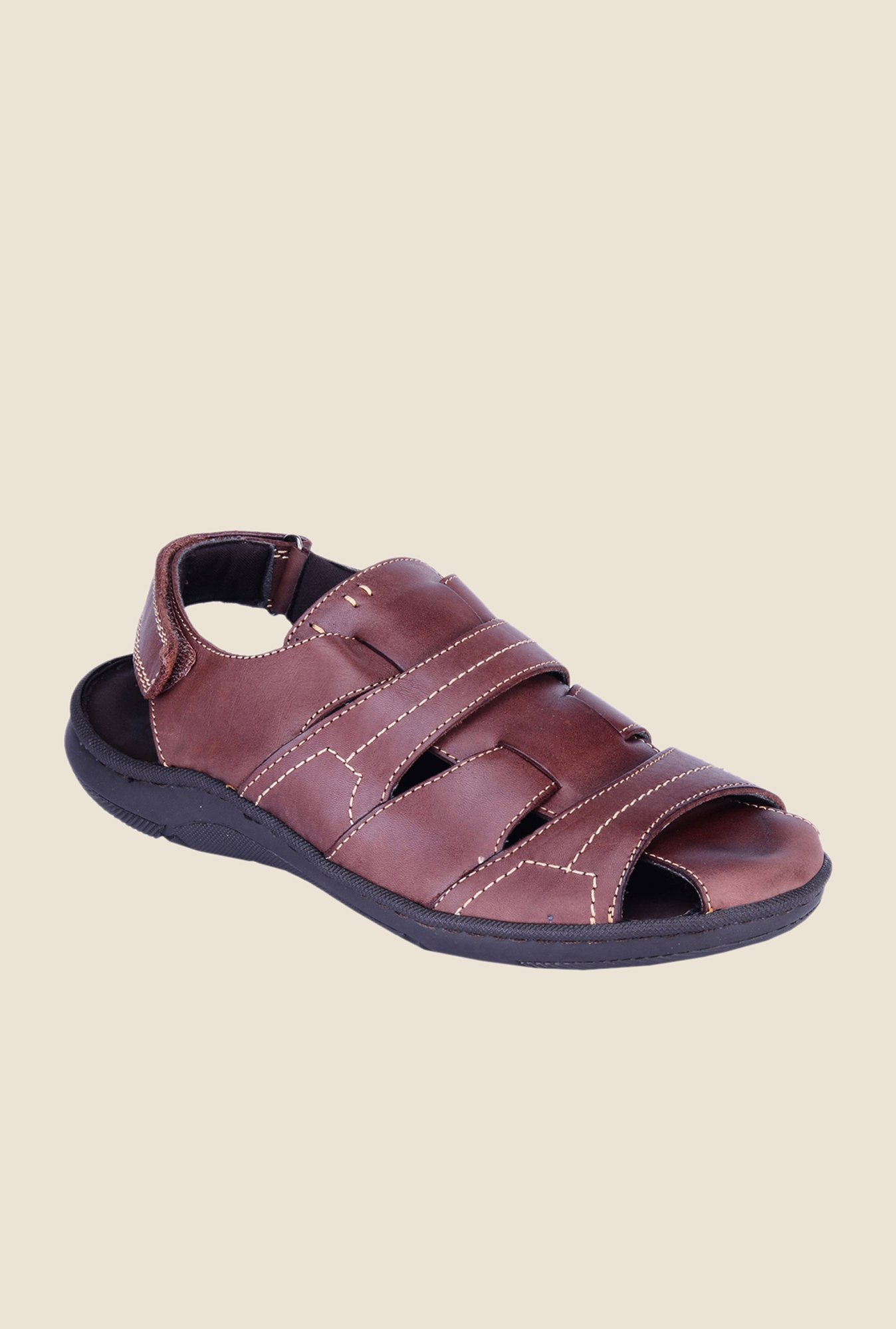 Khadim's British Walkers Brown Fisherman Sandals