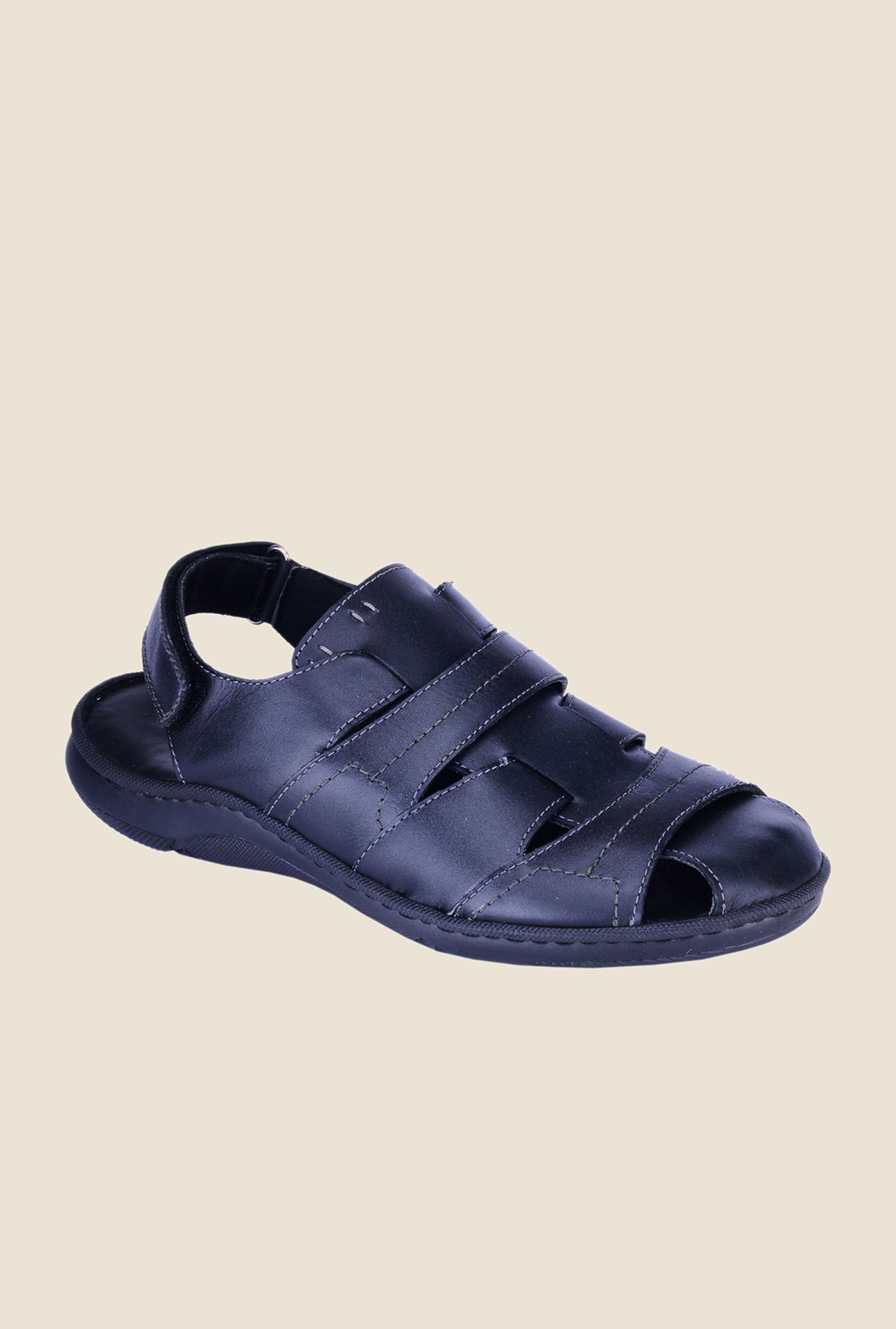 Khadim's British Walkers Black Fisherman Sandals