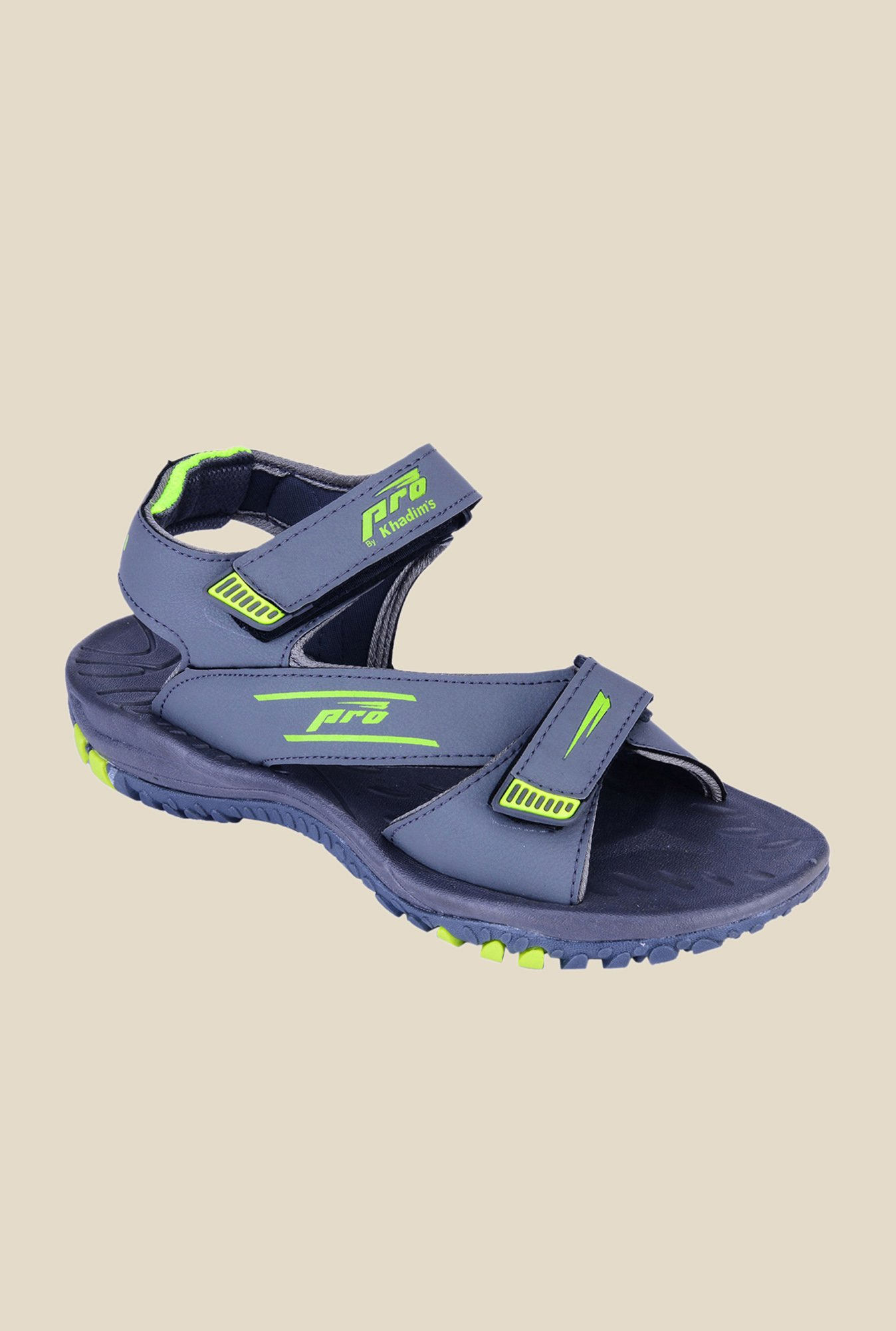 Khadim's Pro Blue Floater Sandals