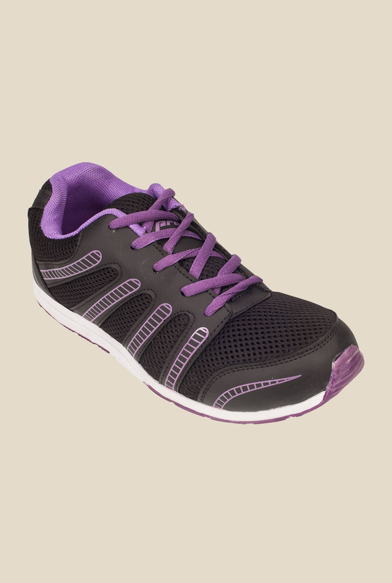 Khadim's Pro Black & Purple Running Shoes