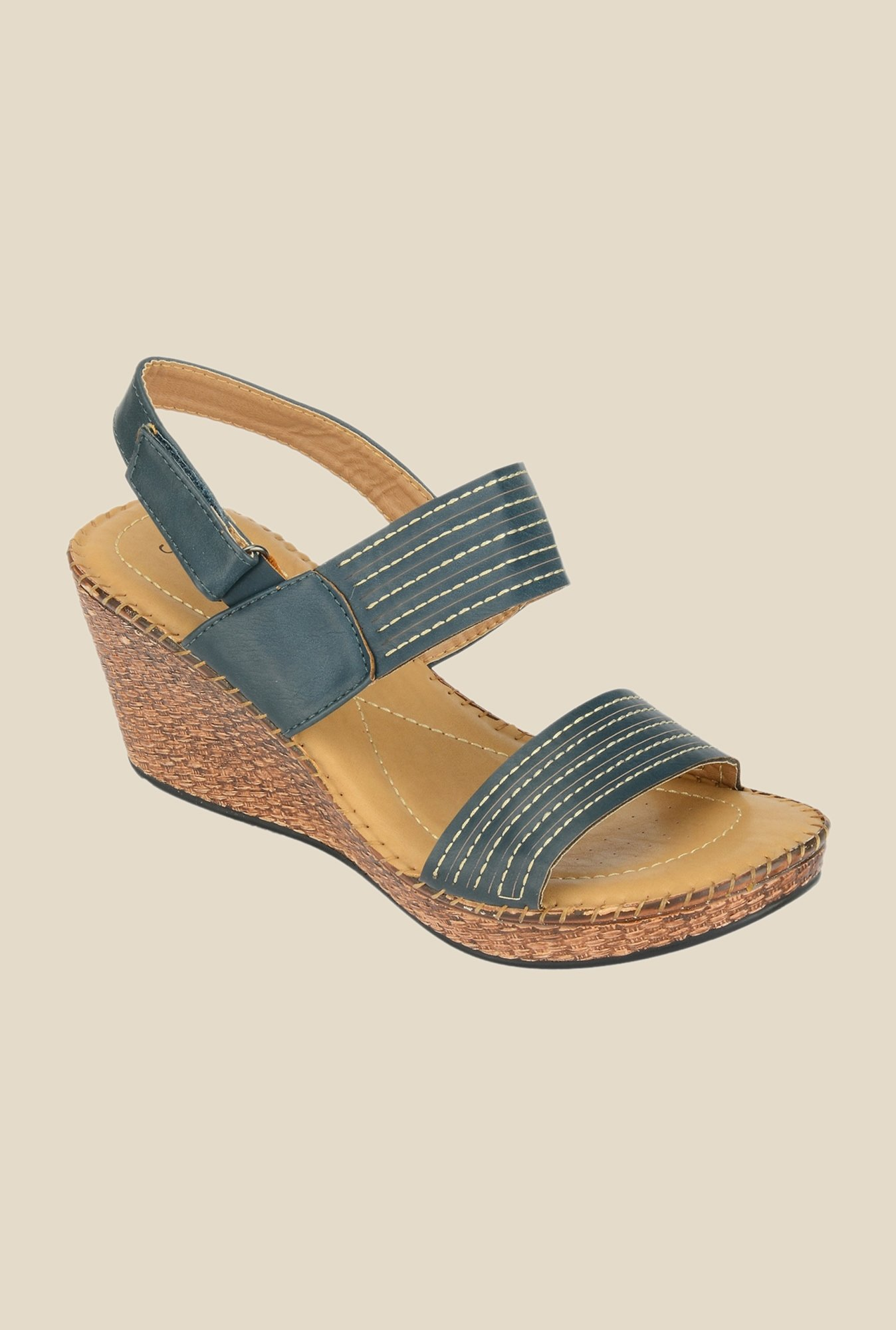 Khadim's Sharon Navy Back Strap Wedges