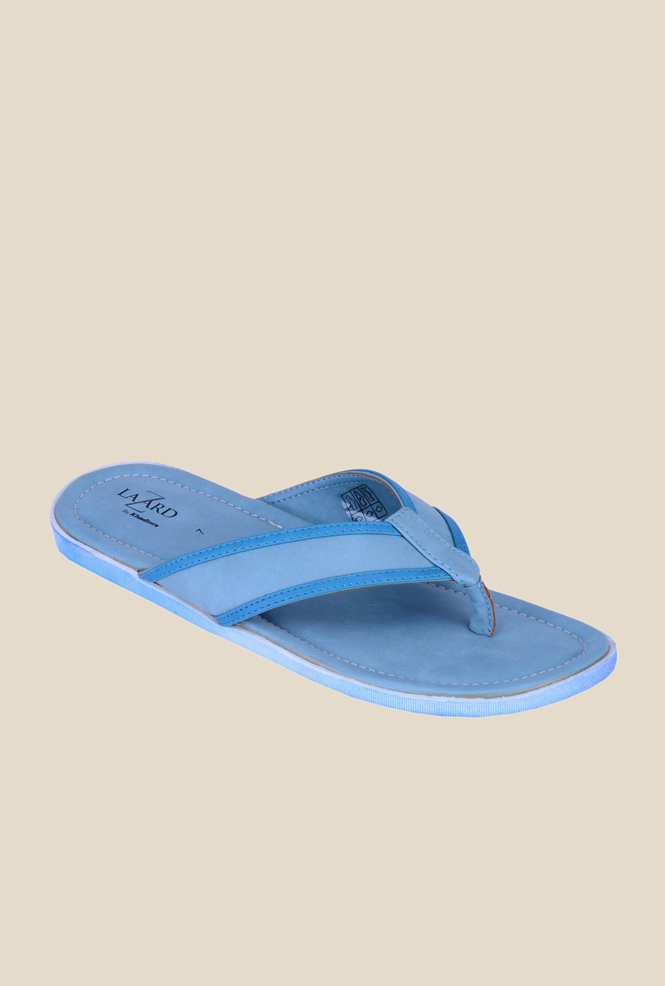 Khadim's Lazard Blue Thong Sandals