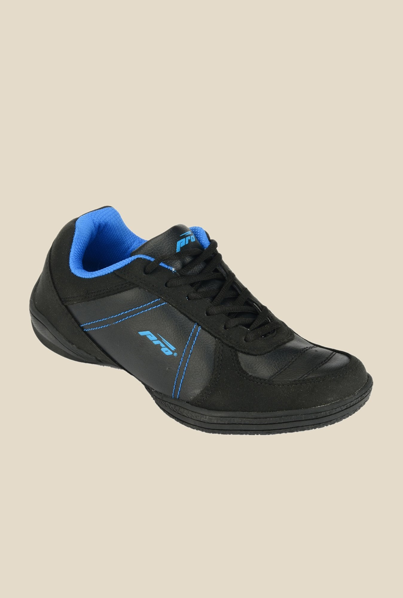 Khadim's Pro Black & Blue Running Shoes