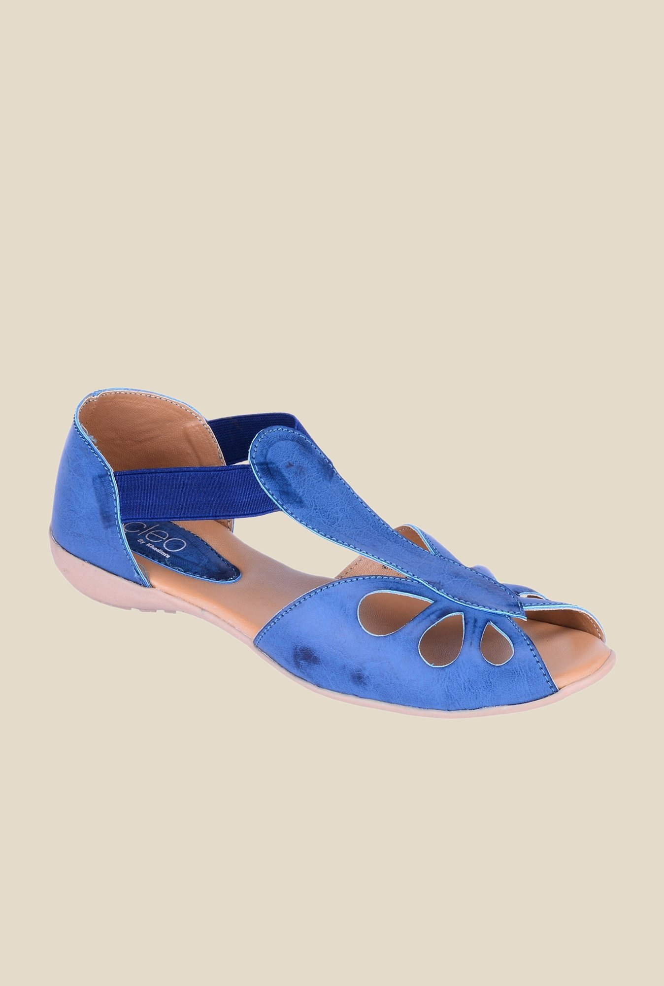 Khadim's Cleo Blue Slide D'orsay Sandals