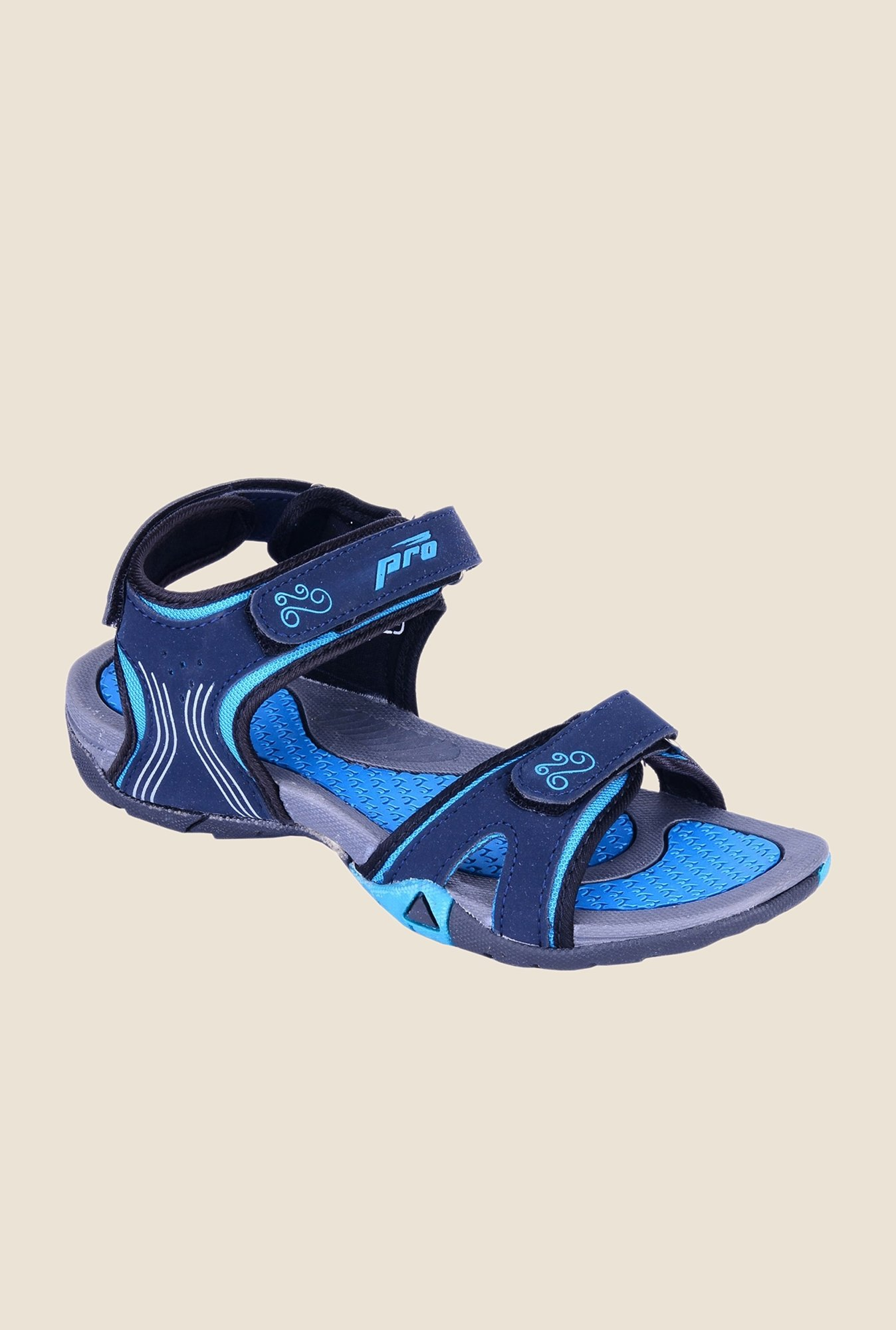 Khadim's Pro Navy Floater Sandals