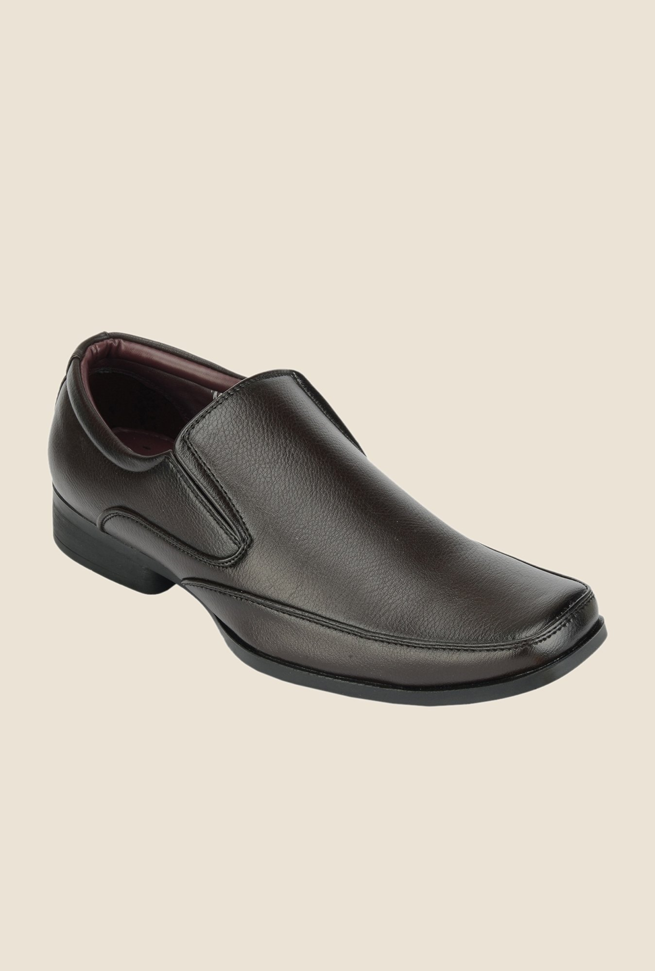 Khadim's Lazard Brown Slip-Ons