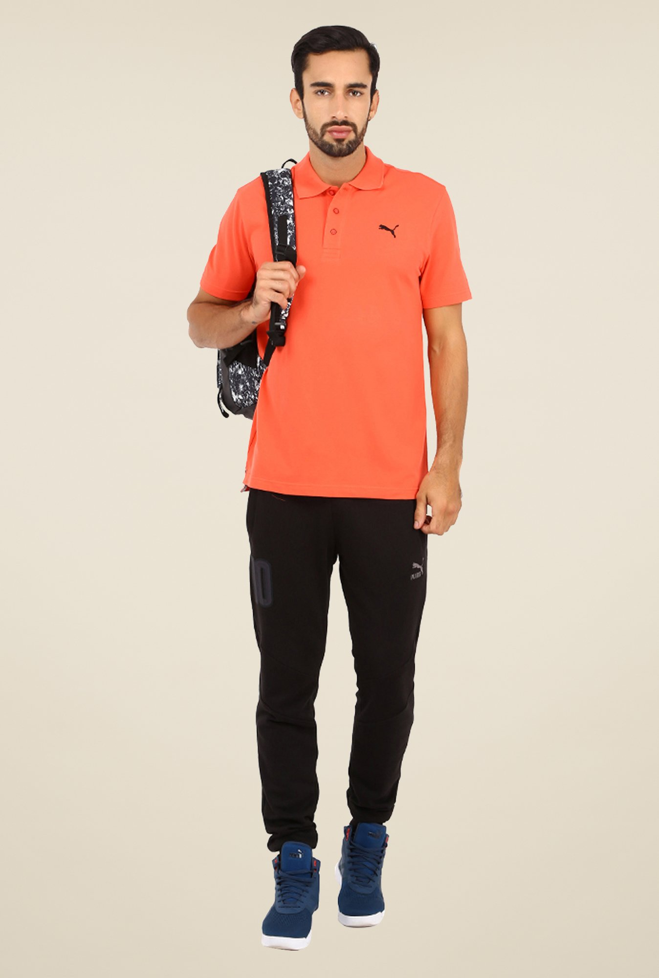 Puma Peach Polo T Shirt