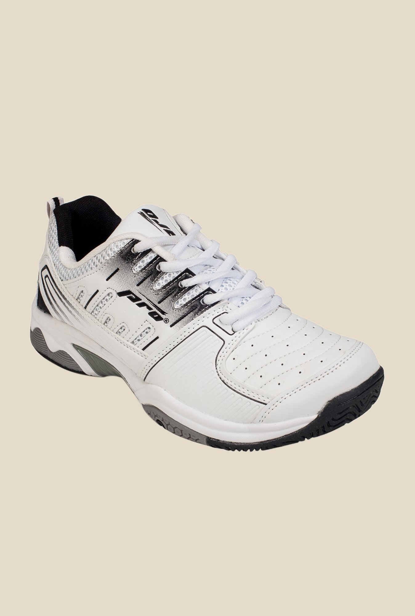 Khadim's Pro White Running Shoes