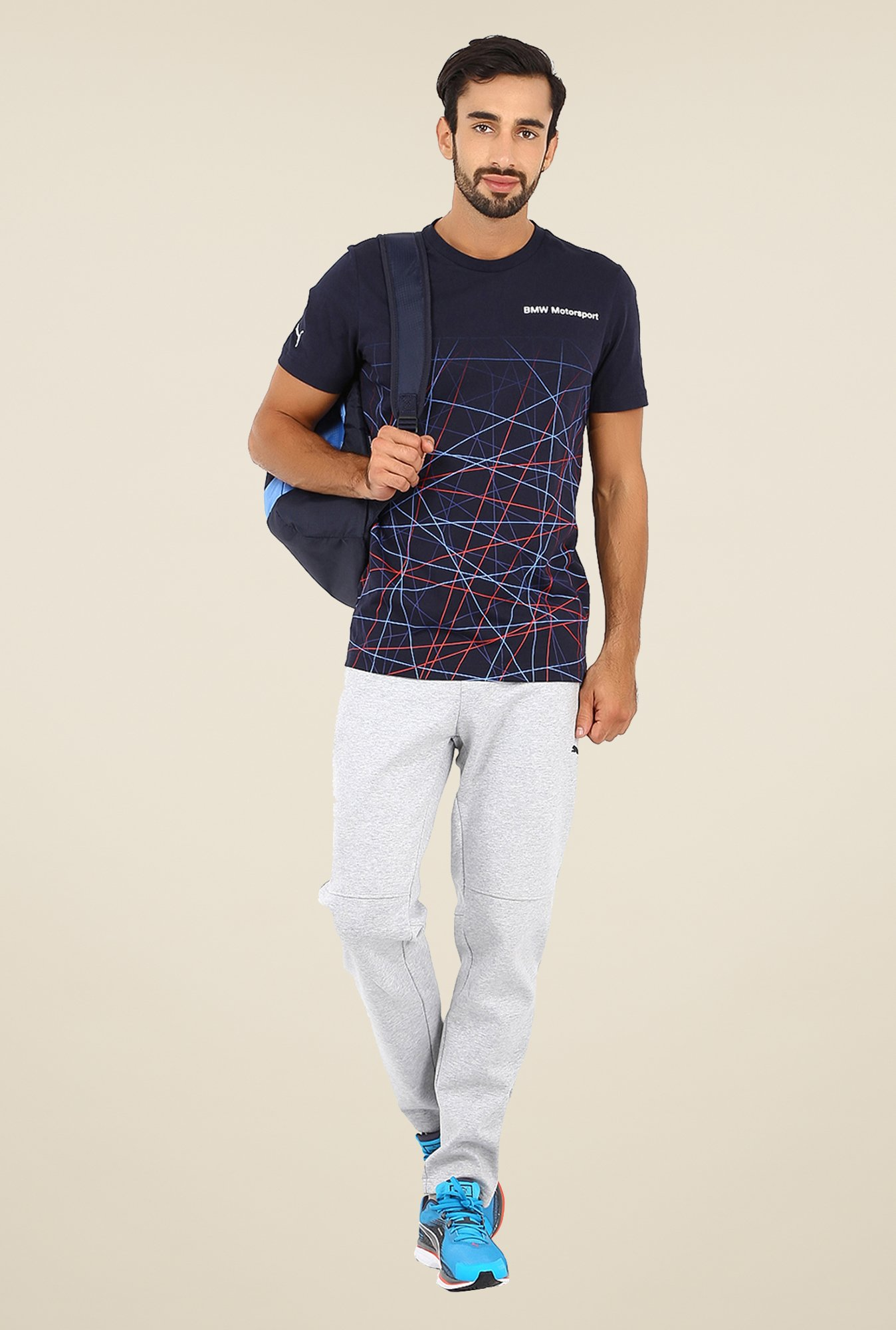Puma Navy Graphic Print T Shirt