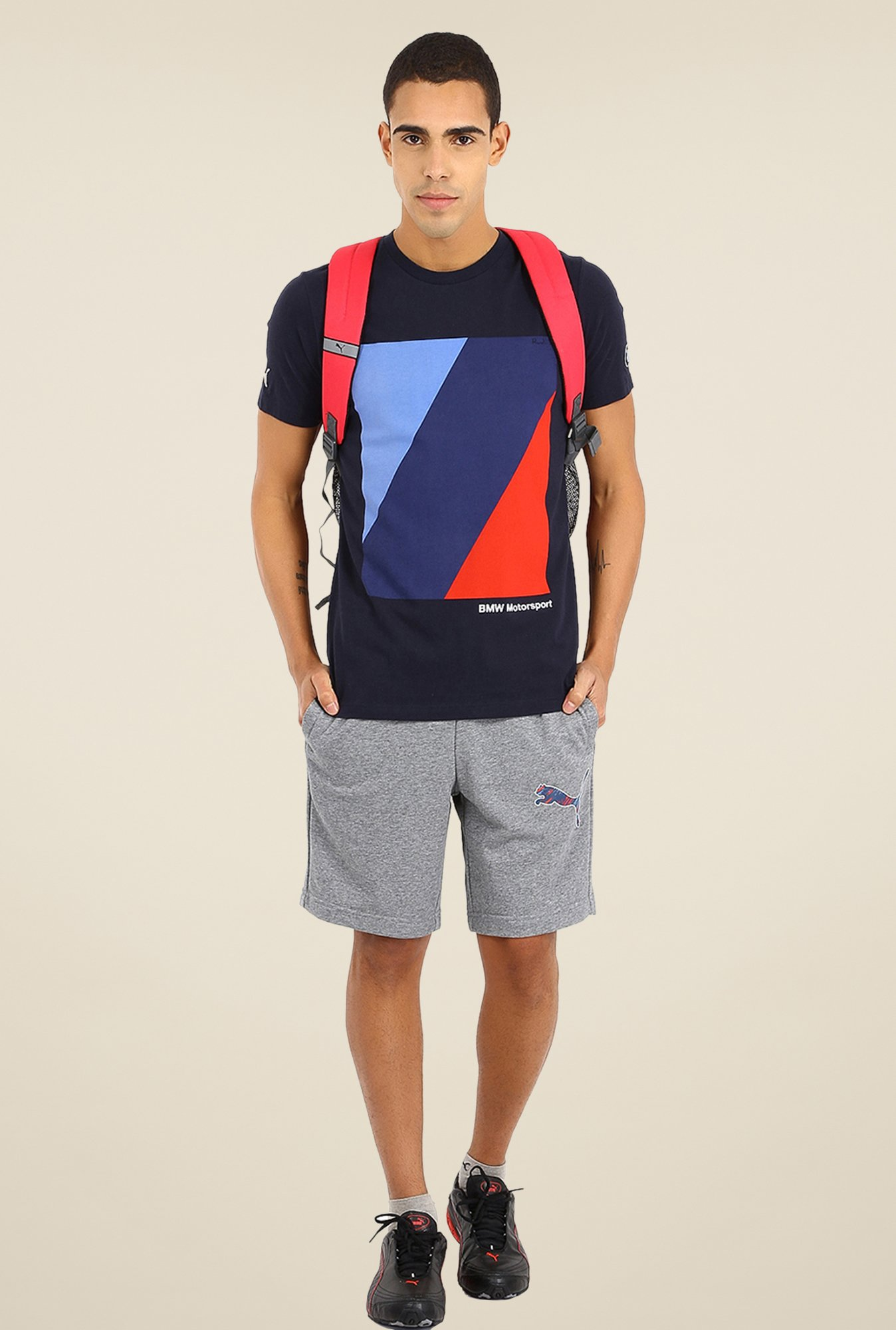 Puma Navy Printed T Shirt