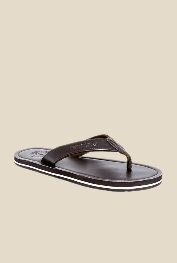 Solethreads Frazer Brown Flip Flops