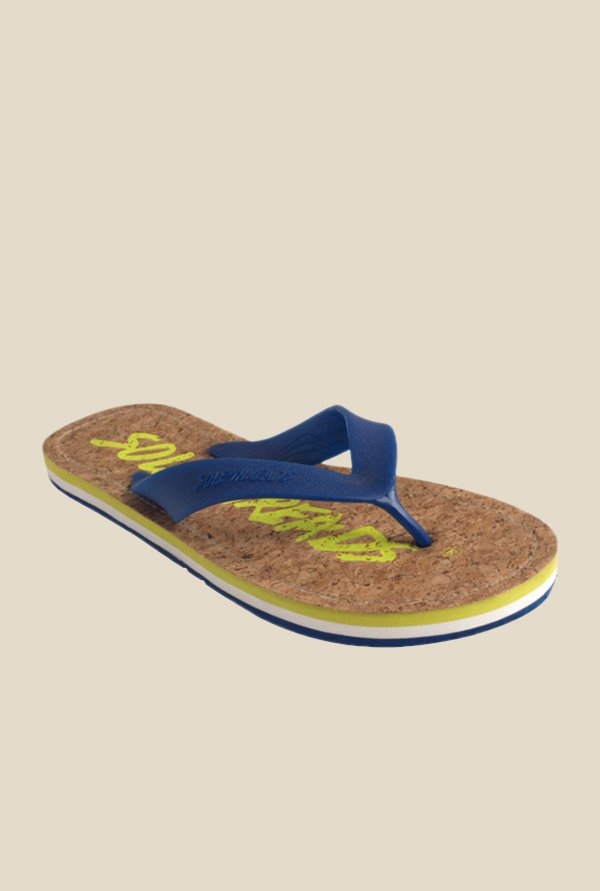 Solethreads Duke Aqua Blue Flip Flops