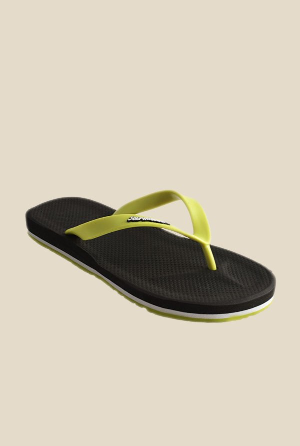 Solethreads Gripster Lime Green & Black Flip Flops