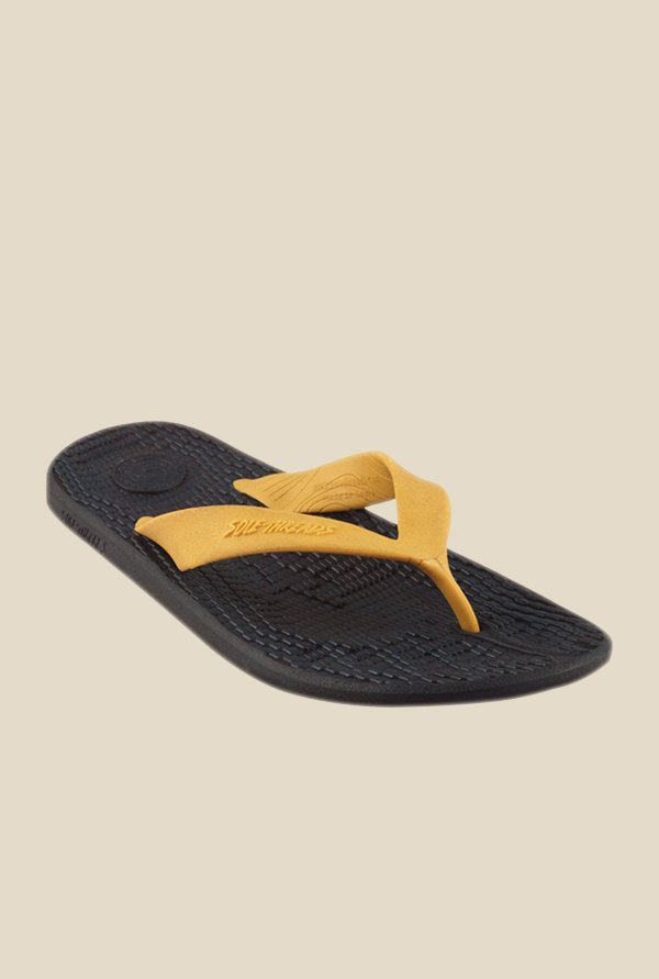 Solethreads Everlast Gold & Navy Flip Flops