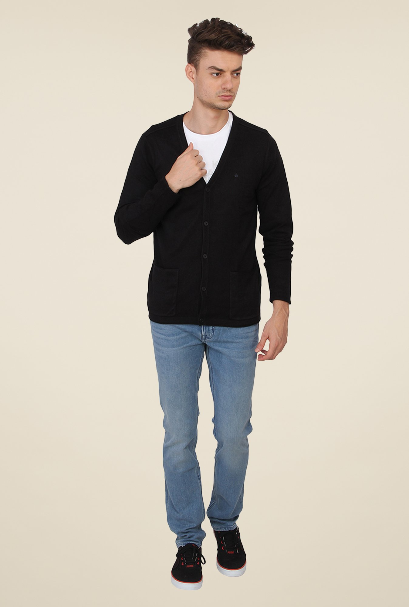 Calvin Klein Solid Black Sweater