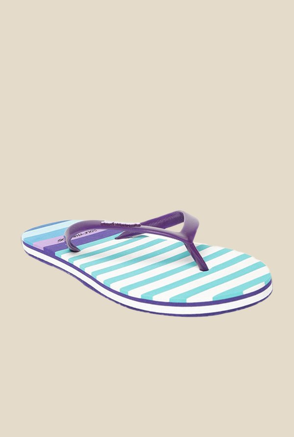 Solethreads Nautica Purple & Sea Green Flip Flops