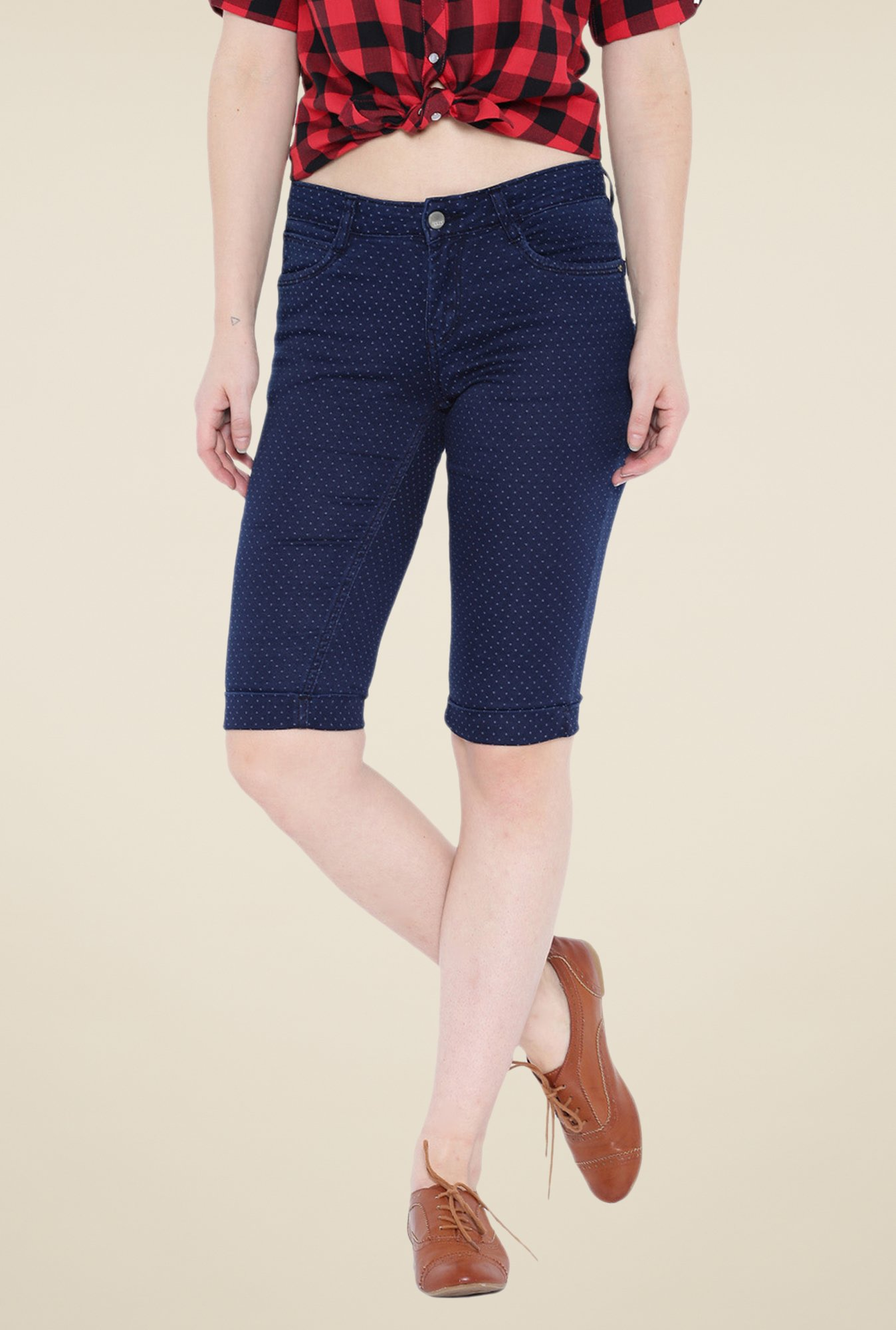 Kraus Dark Blue Denim Capris