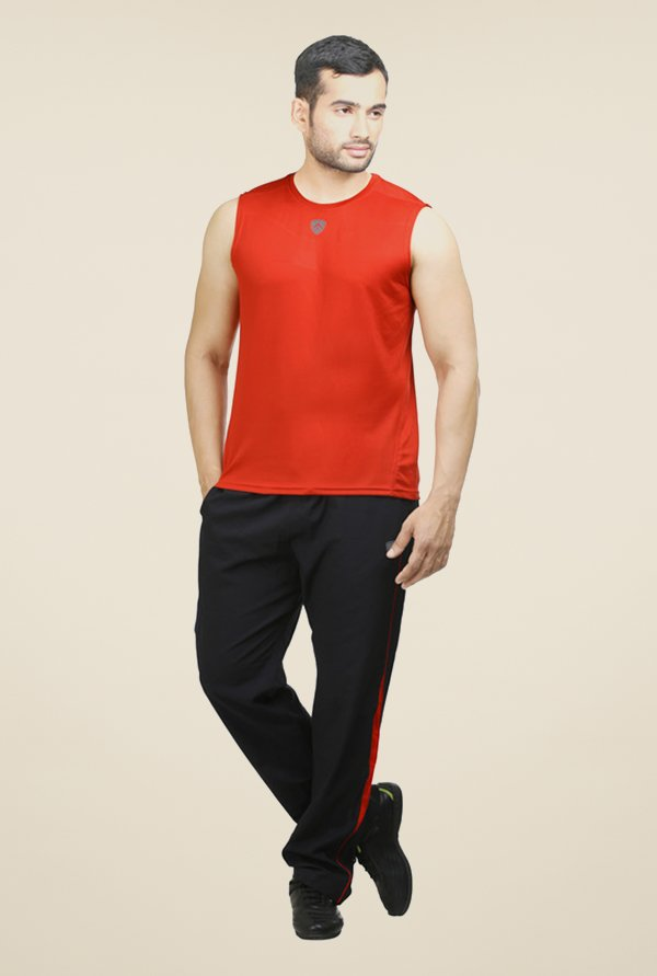 Armr Red Sport Sleeveless T Shirt