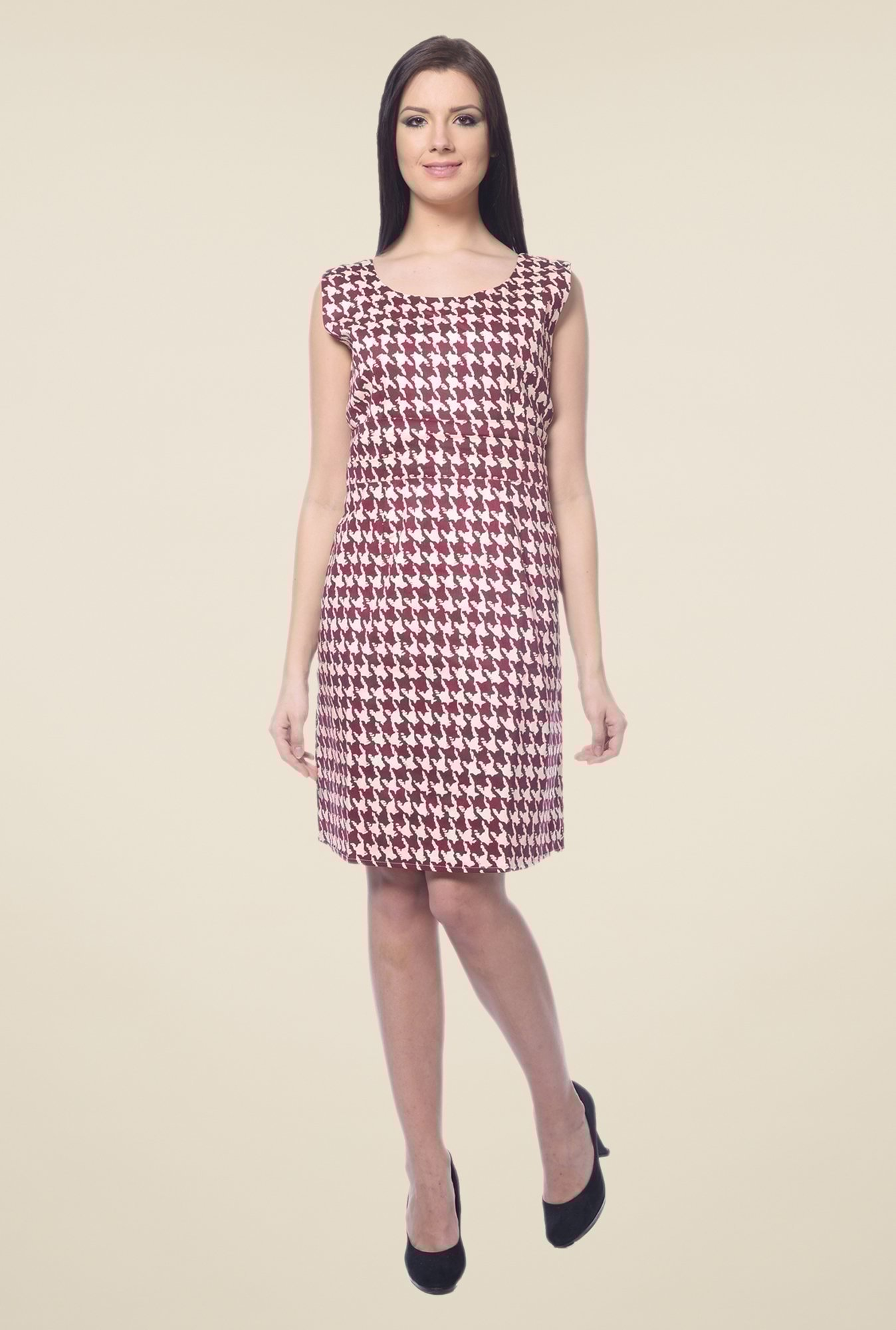 Forever Fashion Maroon Printed Dress