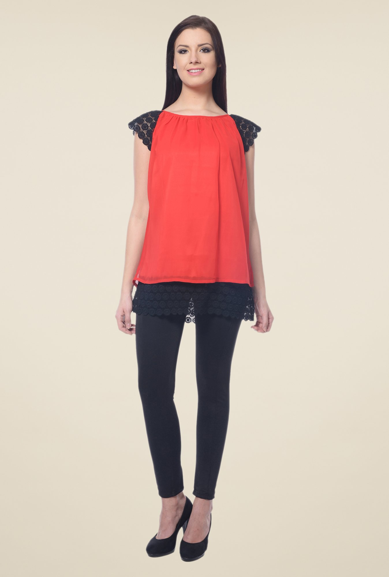 Forever Fashion Red Solid Top